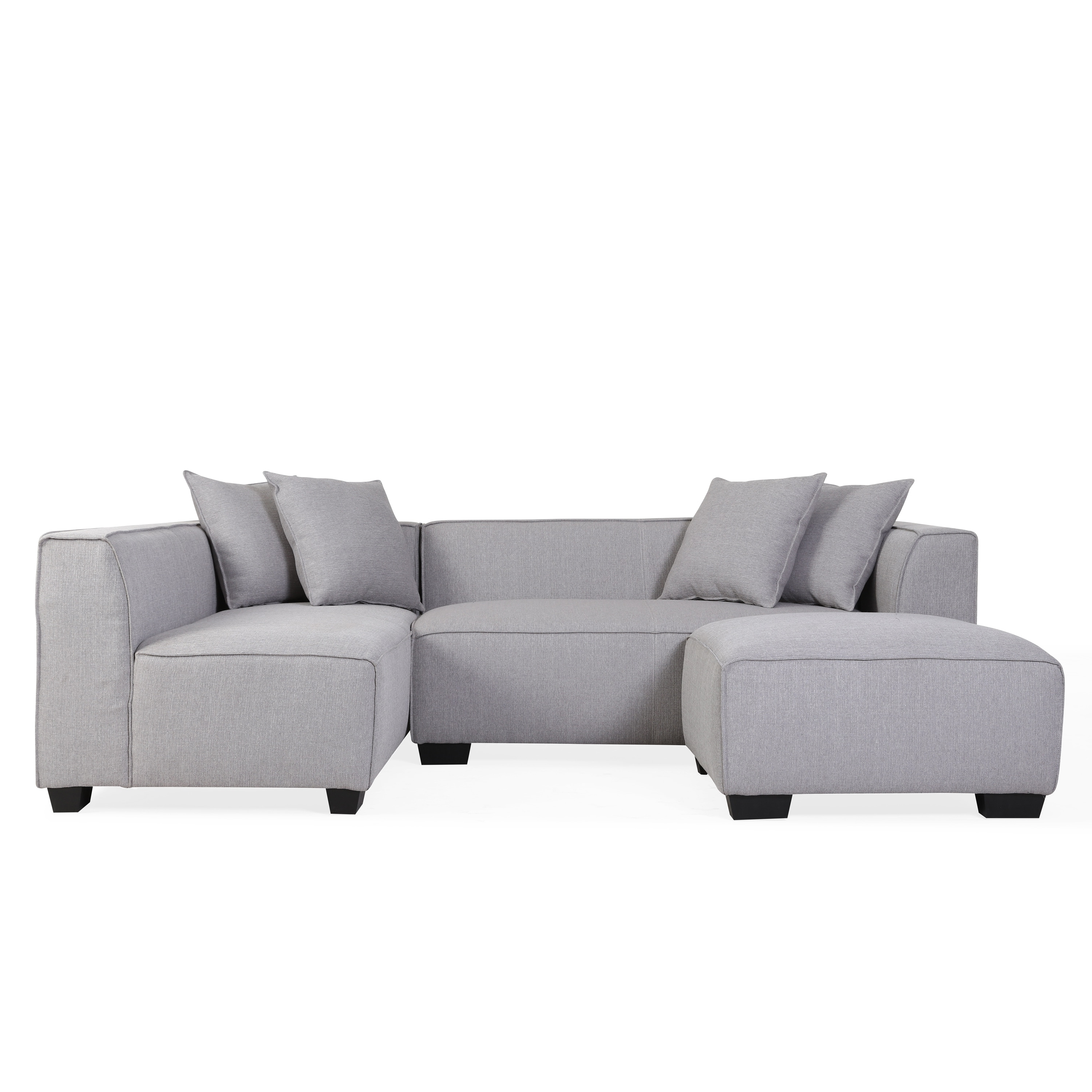 Phoenix Sectional Sofas For Most Up To Date Handy Living Phoenix Grey Sectional Sofa With Ottoman – Free (View 12 of 20)
