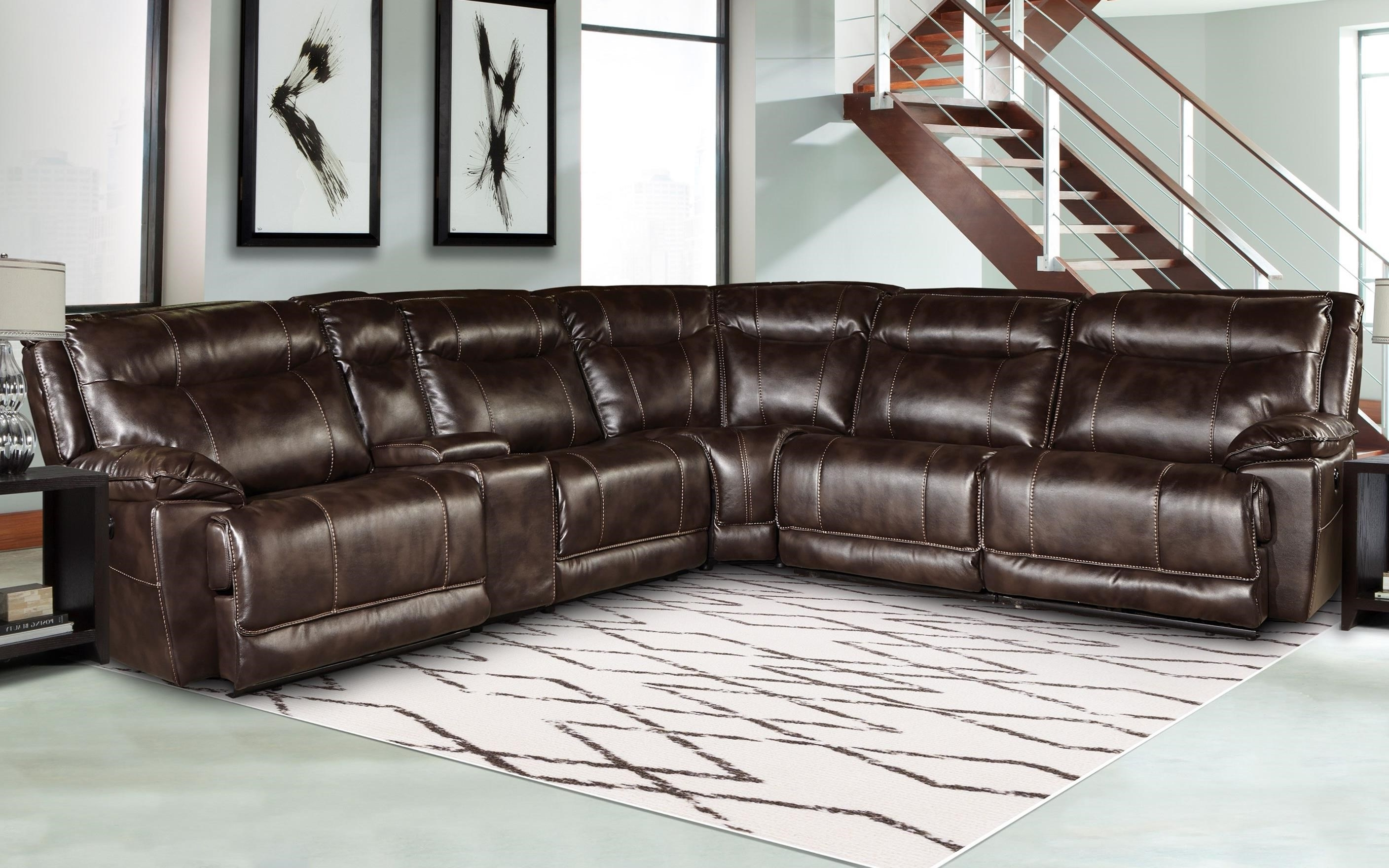 Phoenix Sectional Sofas With Regard To Fashionable Parker Living Phoenix Mpho Packm Tru Casual Reclining Sectional (View 15 of 20)