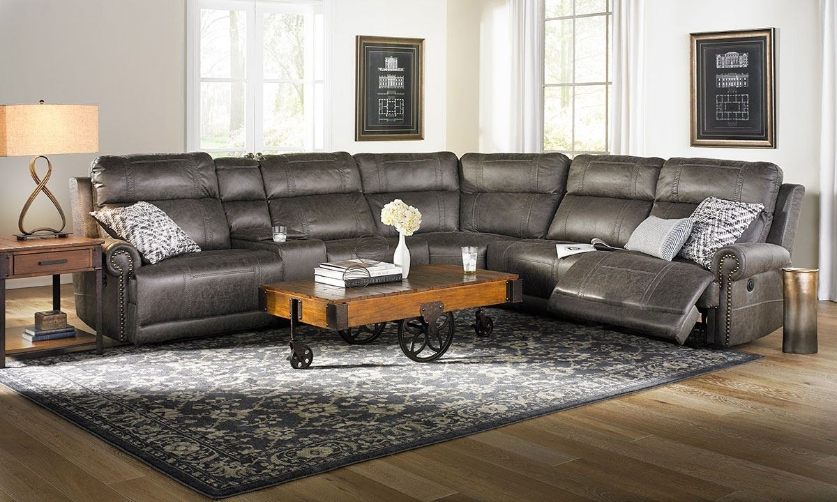 Pierson Power Reclining Storage Sectional With Usb (View 20 of 20)