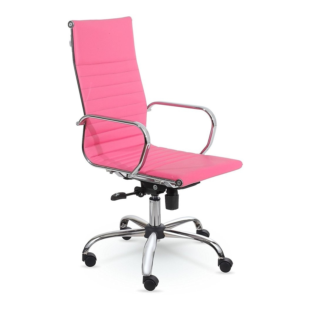 Pink Executive Office Chair – Diy Wall Mounted Desk (View 5 of 20)