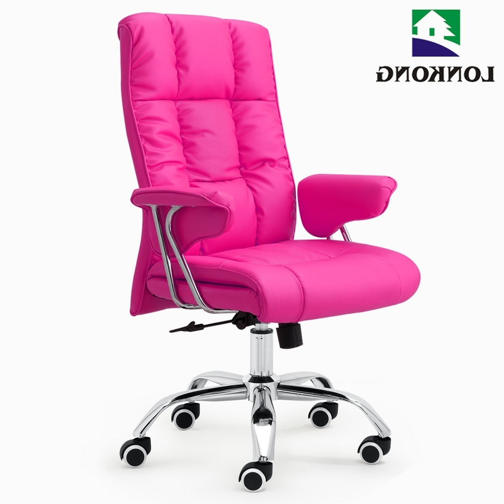 Pink Executive Office Chair, Pink Executive Office Chair Suppliers In Most Recent Pink Executive Office Chairs (View 7 of 20)