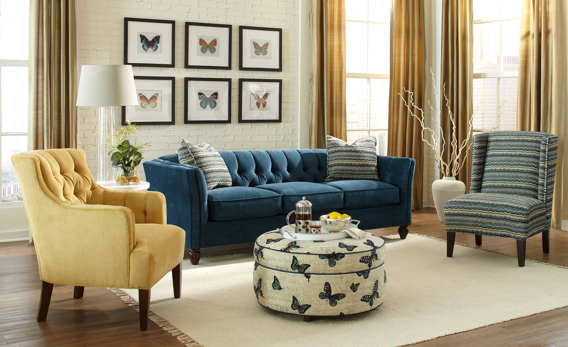 Pinterest Within Preferred Blue Sofa Chairs (View 6 of 20)