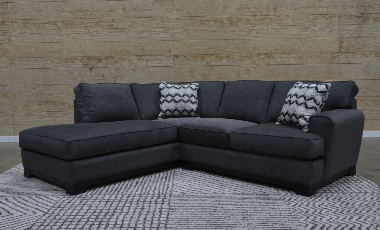 Pisces Black 2 Piece Sectional Sofa For $1, (View 14 of 20)