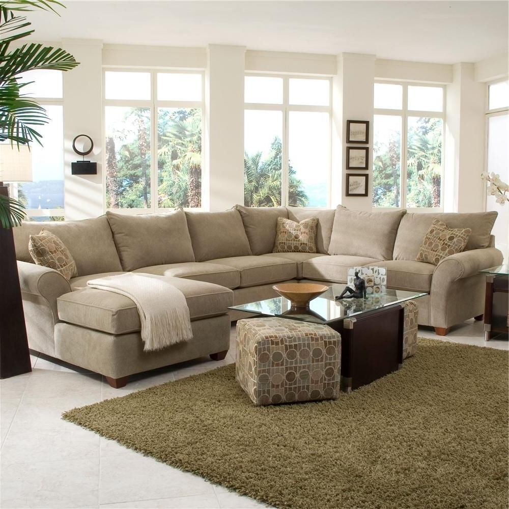 Pittsburgh Sectional Sofas With Newest Fletcher Spacious Sectional With Chaise Loungeklaussner – Wolf (View 15 of 20)