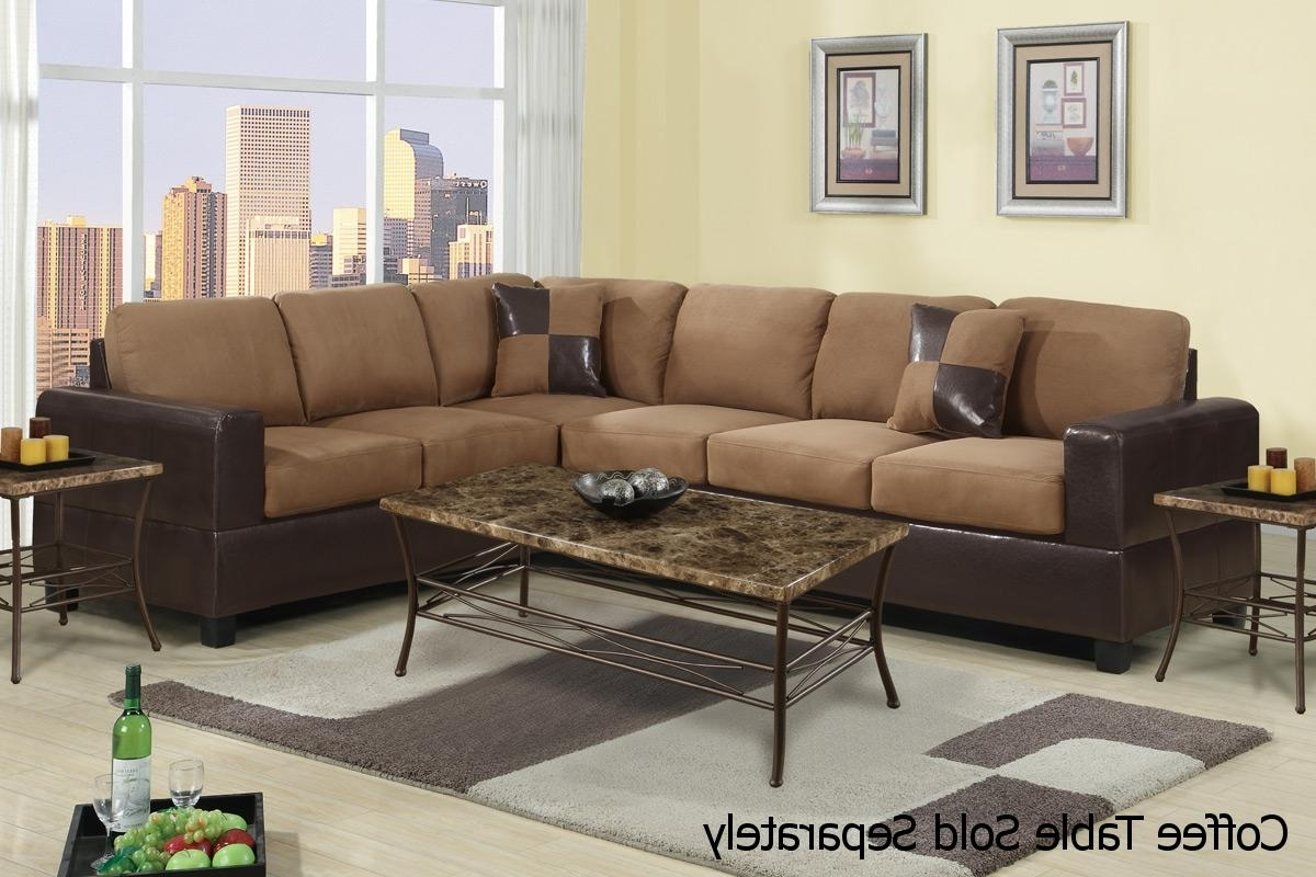 Playa Brown Leather Sectional Sofa – Steal A Sofa Furniture Outlet Throughout Most Popular Sectional Sofas That Come In Pieces (View 7 of 20)