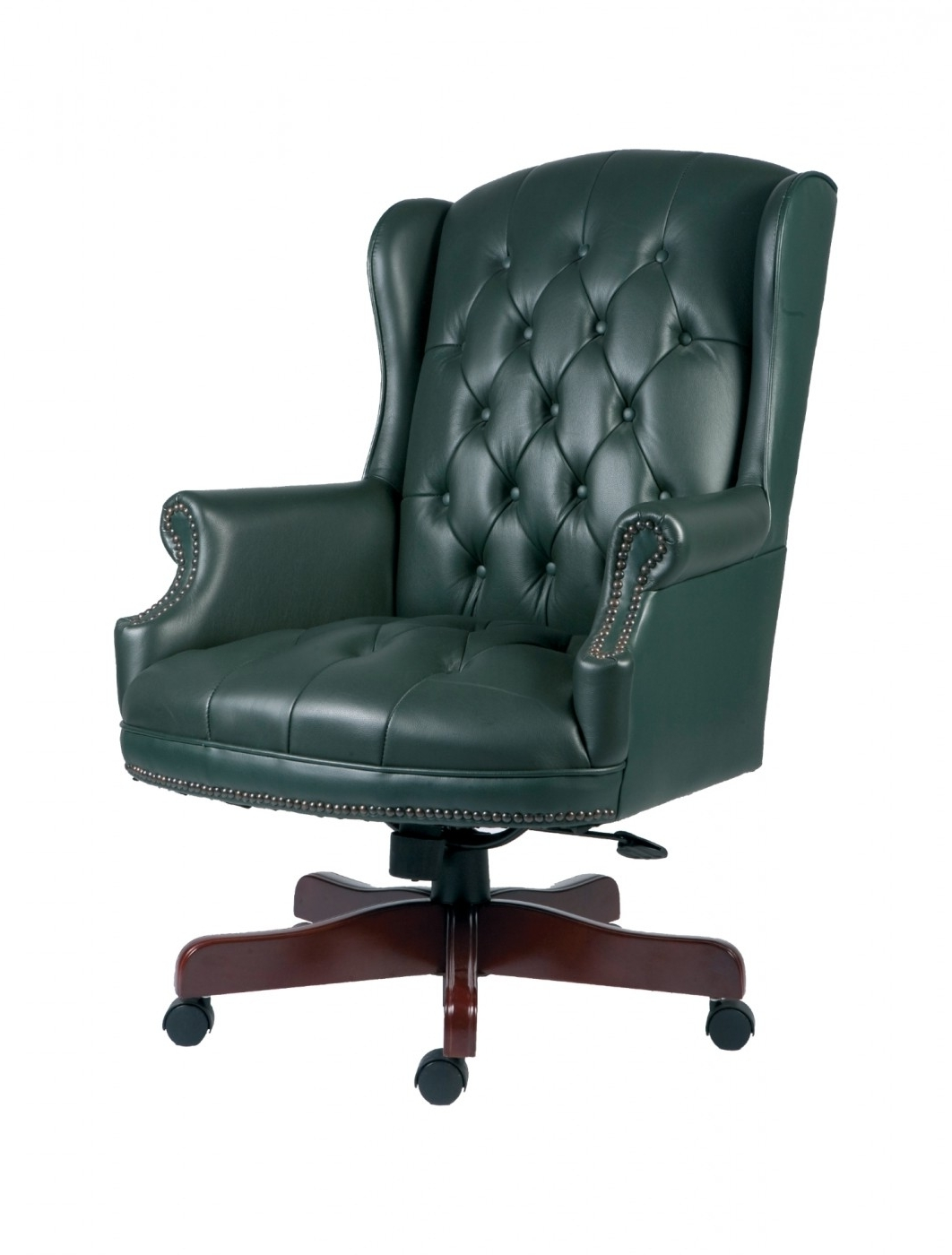 Plush Executive Office Chairs With Newest Teknik Chairman Leather Executive Chair B800 Green (View 14 of 20)