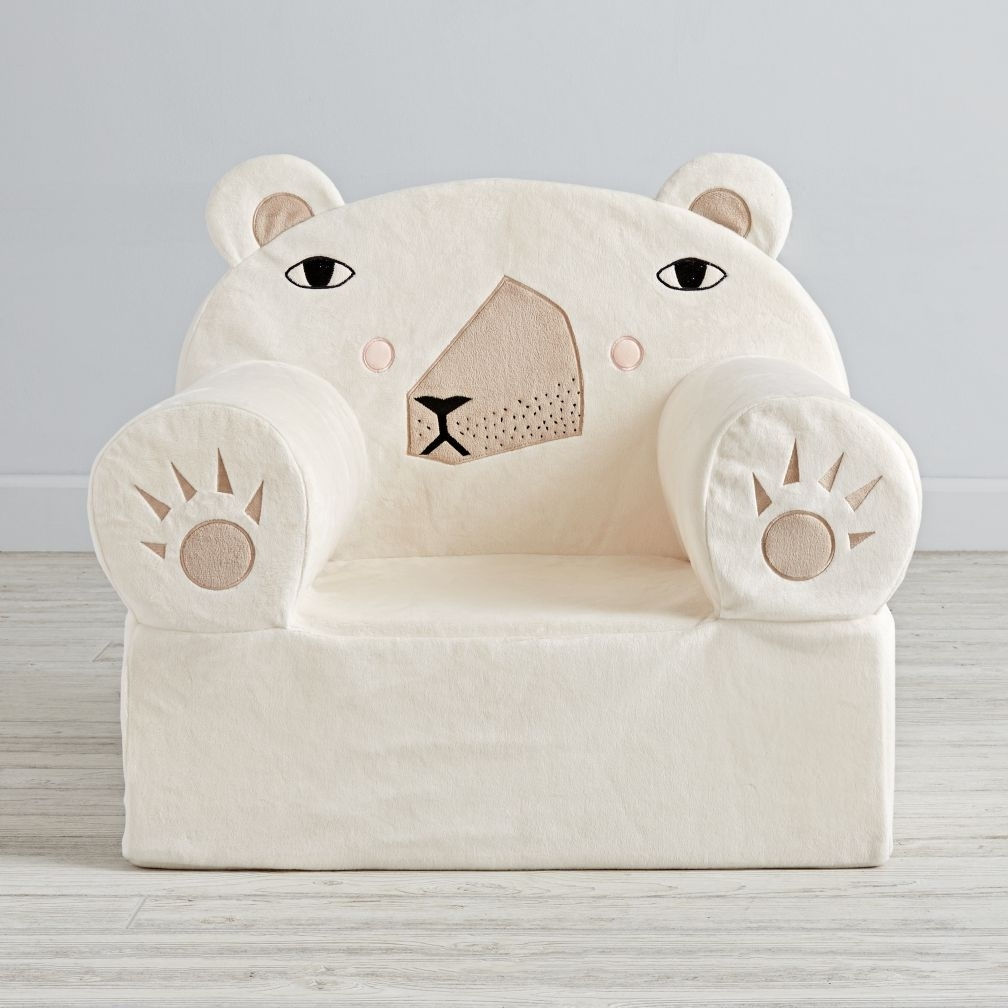 Polar Bear, House And Within Fashionable Personalized Kids Chairs And Sofas (View 11 of 20)