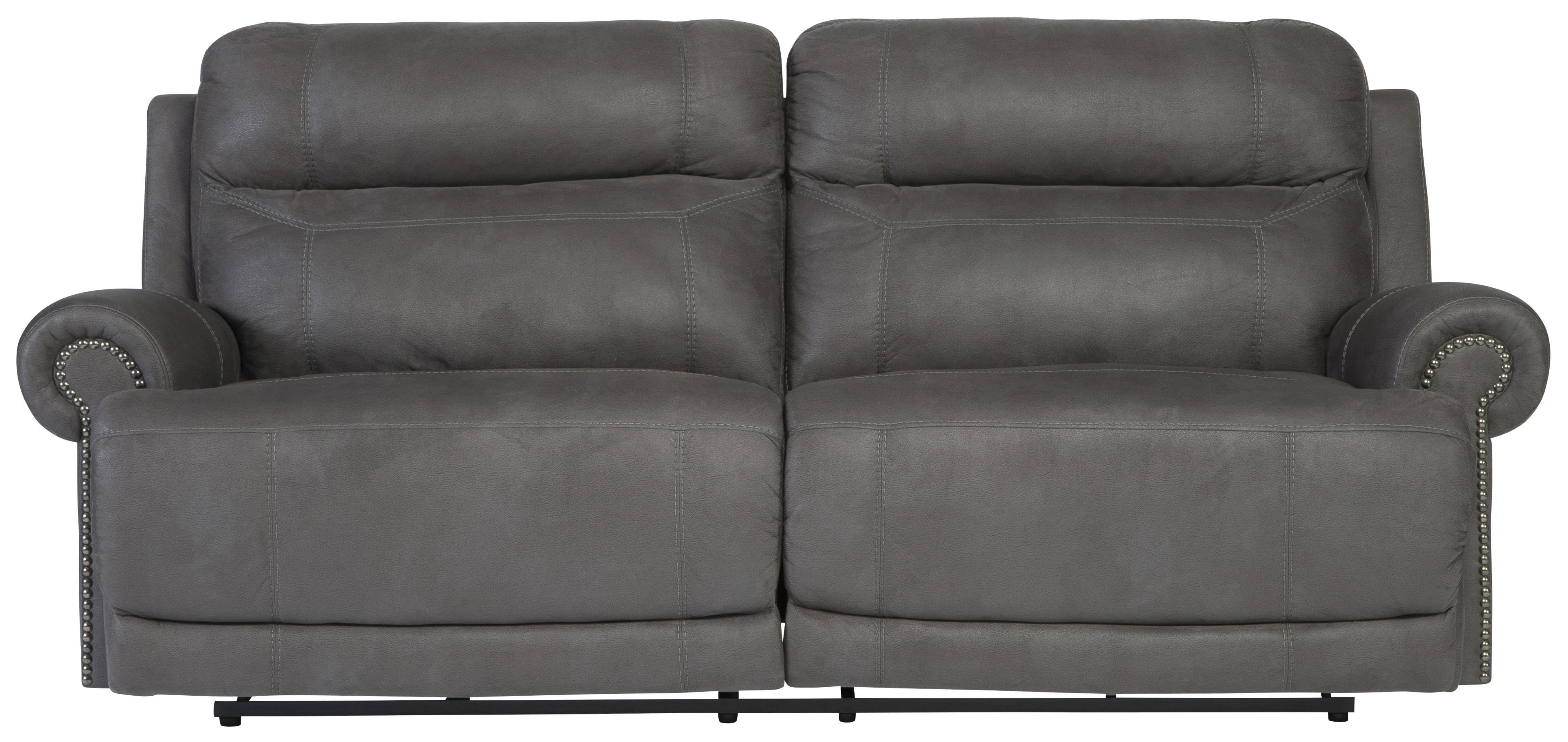 Popular 2 Seat Recliner Sofas Intended For Signature Designashley Austere – Gray 2 Seat Reclining Sofa (View 18 of 20)