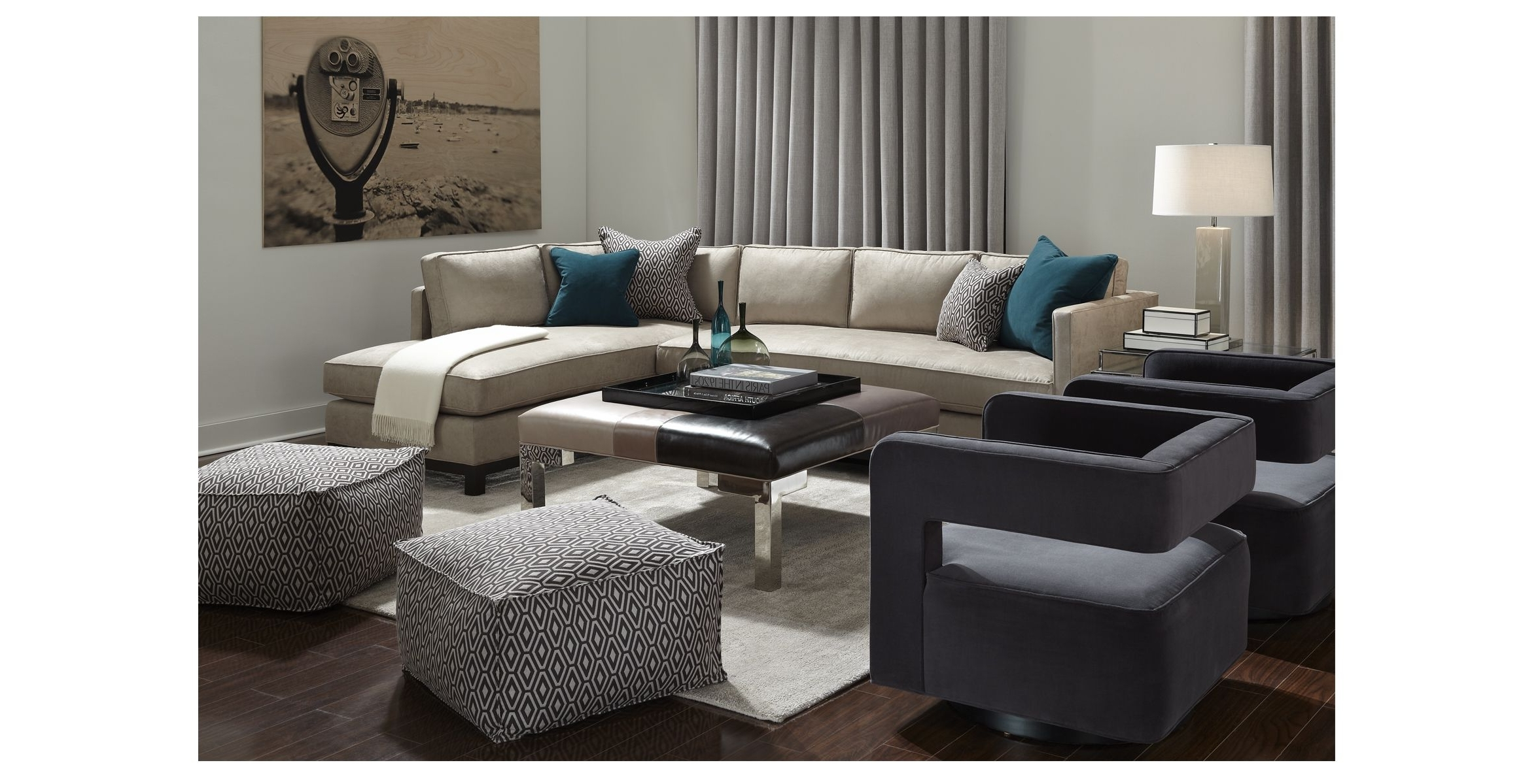 Popular Clifton Collection – Mitchell Gold + Bob Williams – Sectional Within Gold Sectional Sofas (View 13 of 20)