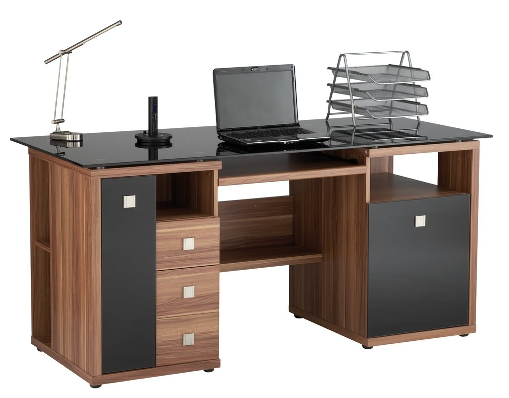 Popular Computer Desks With Keyboard Tray Regarding Home Etc Maxam Computer Desk & Reviews (View 13 of 20)