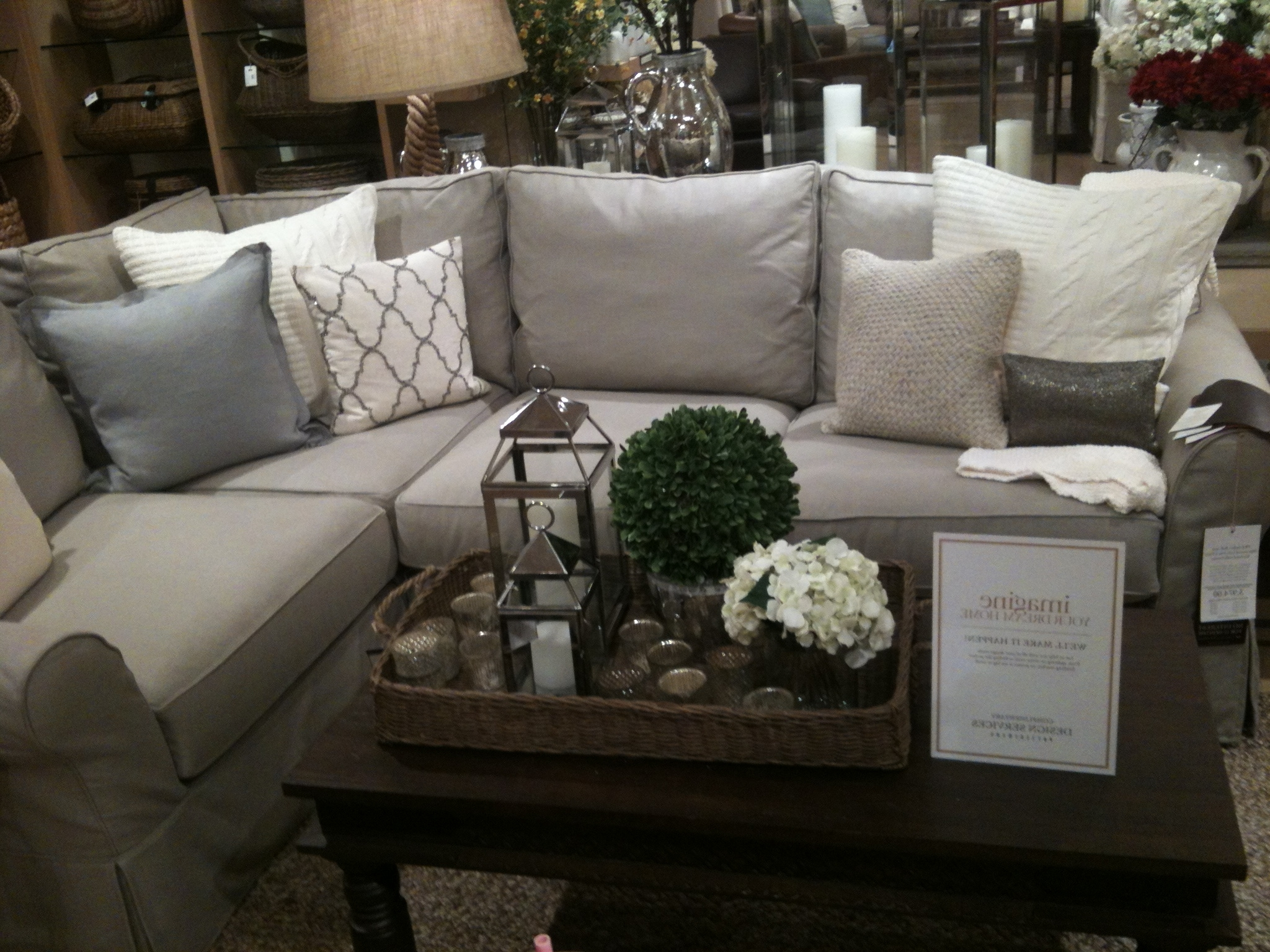 Popular Cozy Sectional Sofas With Regard To Cozy Sectional Sofas Pottery Barn 69 For Your Sectional Sofa With (View 18 of 20)