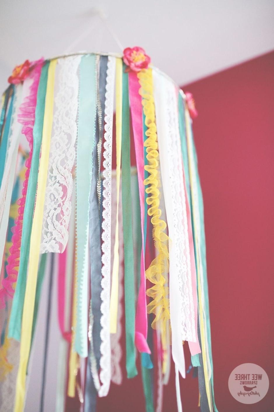 Popular Diy Ribbon Chandelier, Little Girls Bedroom, Turquoise Bedroom, Pink With Turquoise Bedroom Chandeliers (View 7 of 20)