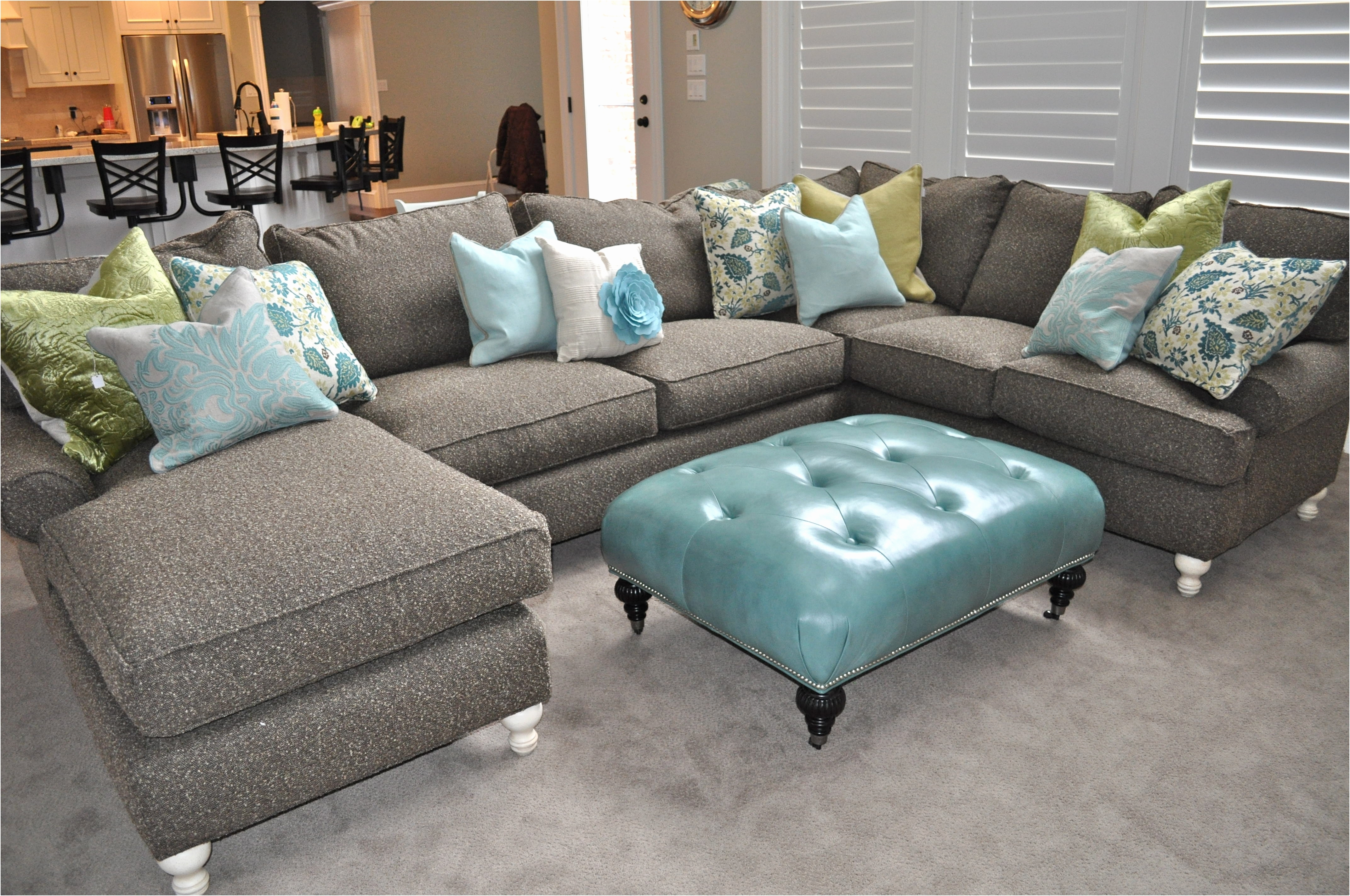 Popular Faux Leather Sectional Sofas Best Of Fancy Green Sectional Sofa With Green Sectional Sofas With Chaise (View 10 of 20)