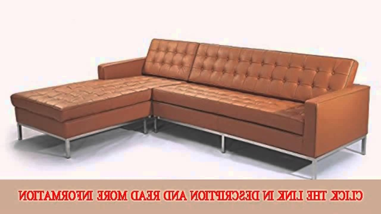 Popular Florence Knoll Leather Sofas Pertaining To Kardiel Florence Knoll Style Sofa Sectional Right Luxe Camel (View 13 of 20)