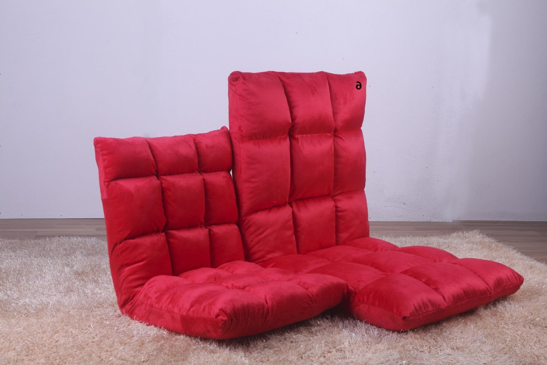 Popular Folding Sofa Chairs Pertaining To 6 Gears Lazy Sofa Couch Couch Rice Small Single Sofa Chair Folding (View 16 of 20)
