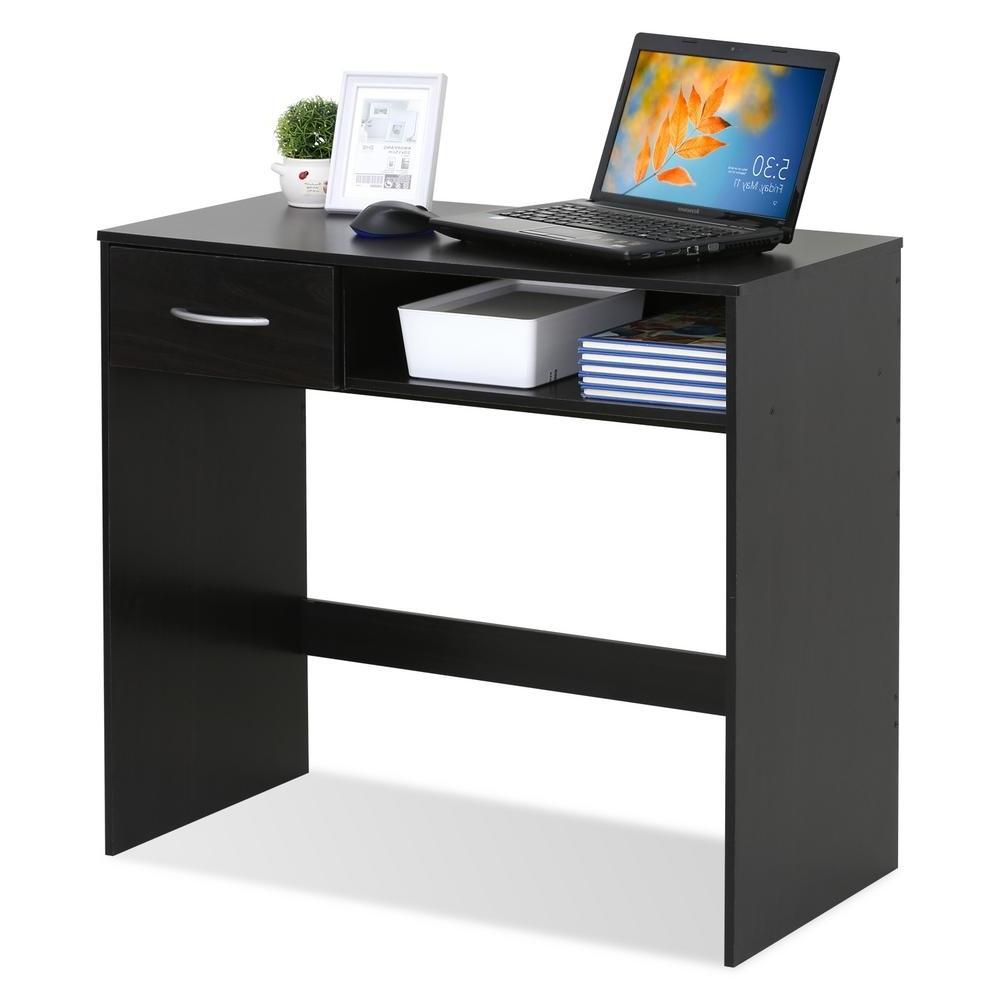 Popular Furinno Jaya Computer Study Espresso Desk With Drawer 15117ex Throughout Espresso Computer Desks (View 9 of 20)
