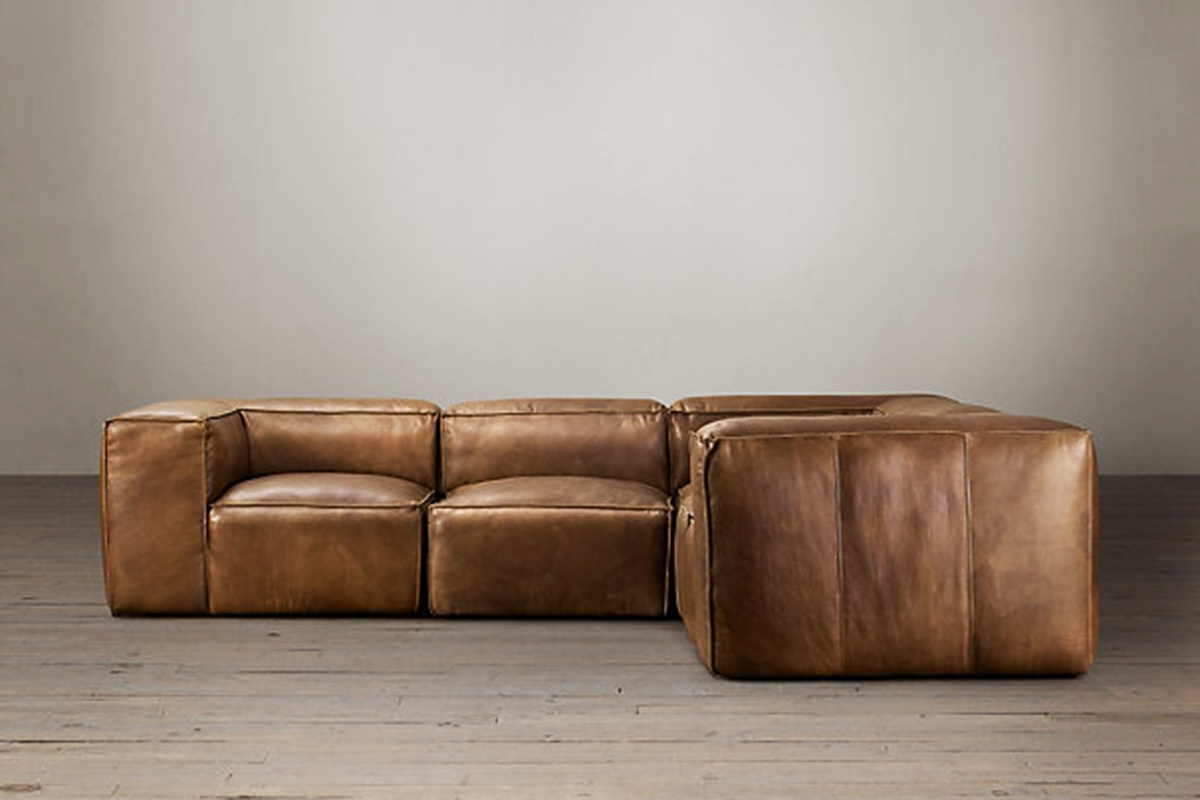 Popular Furniture Home: Restoration Hardware Soho Tufted Leather Left Arm Pertaining To Restoration Hardware Sectional Sofas (View 17 of 20)