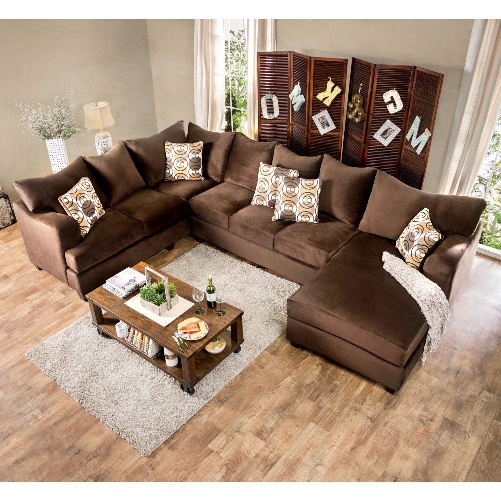 Popular Furniture Of America Hamilton Sectional Sofa With Chaise – Welcome For Hamilton Sectional Sofas (View 13 of 20)