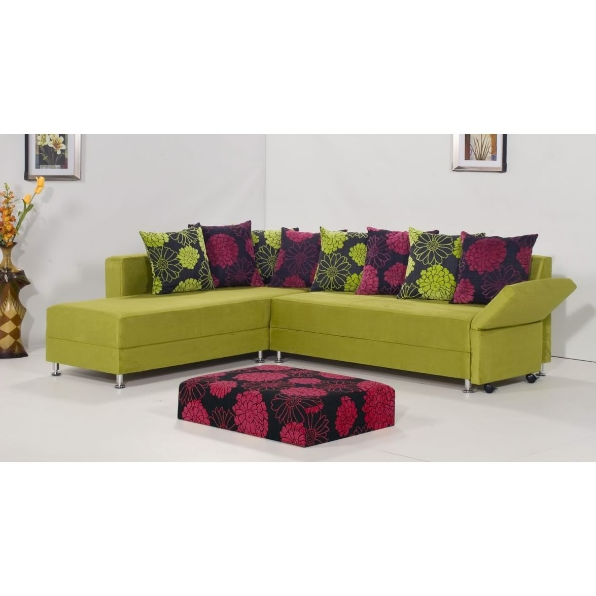 Popular Green Sectional Sofas Within Sectional Sofa Design: Green Leather Sectional Sofa Chaise Lyrics (View 17 of 20)