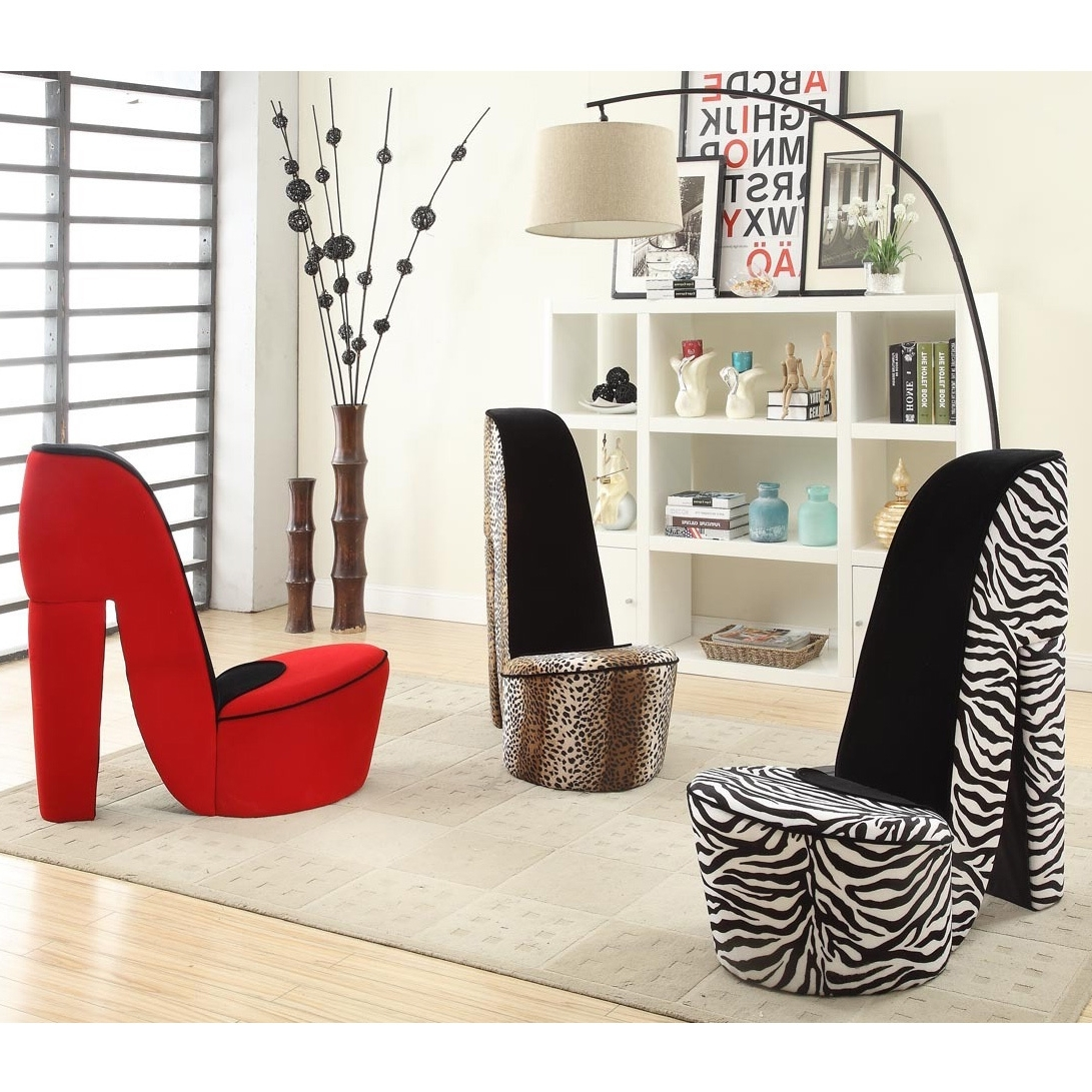 Popular Heel Chair Sofas Inside Give Your Space A Bold, Trendy Style With This Cute High Heeled (View 3 of 20)