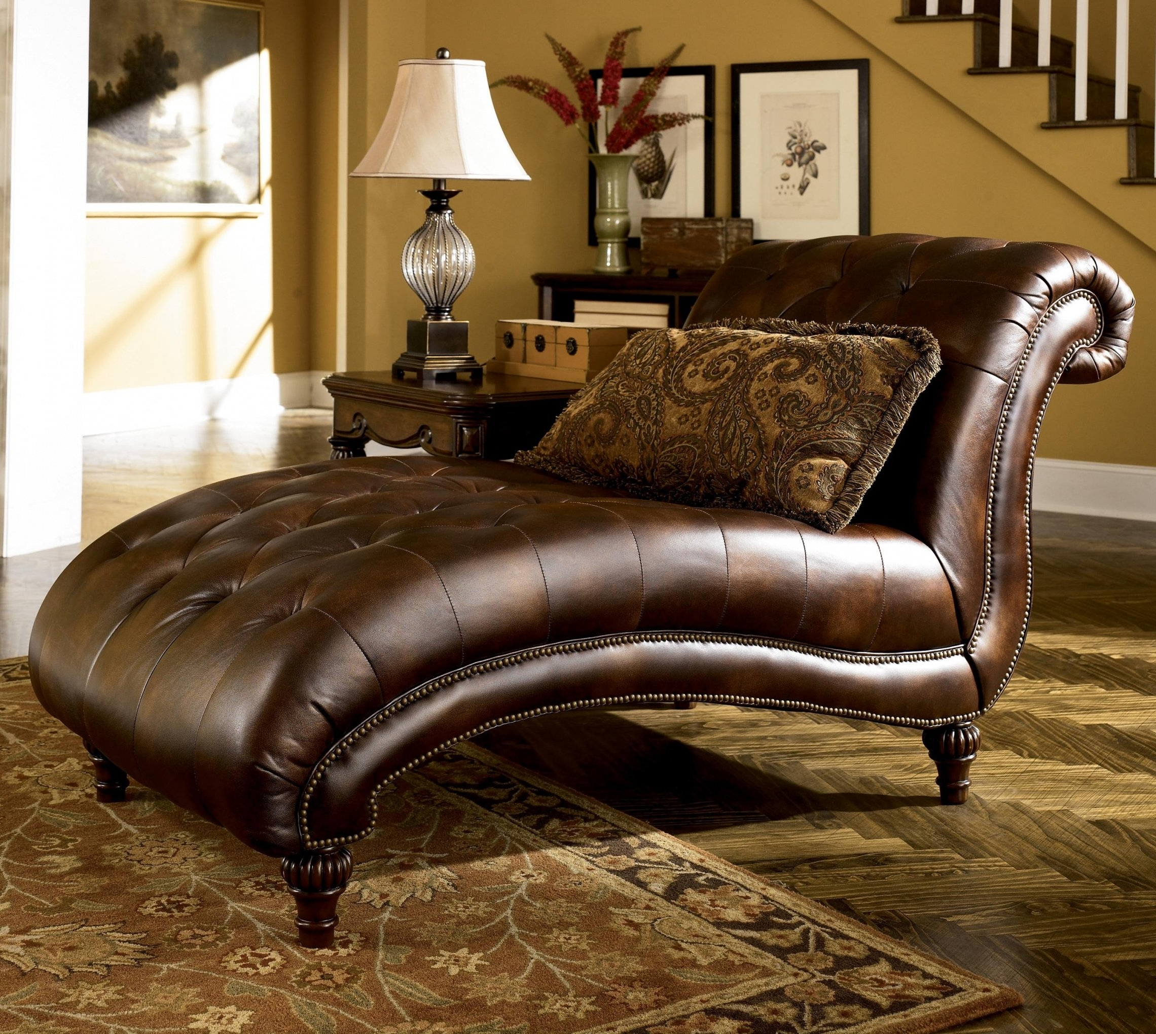 Popular Leather Lounge Sofas For Leather Chaise Lounge Sofa 61 For Sofas And Couches Set With (View 15 of 20)