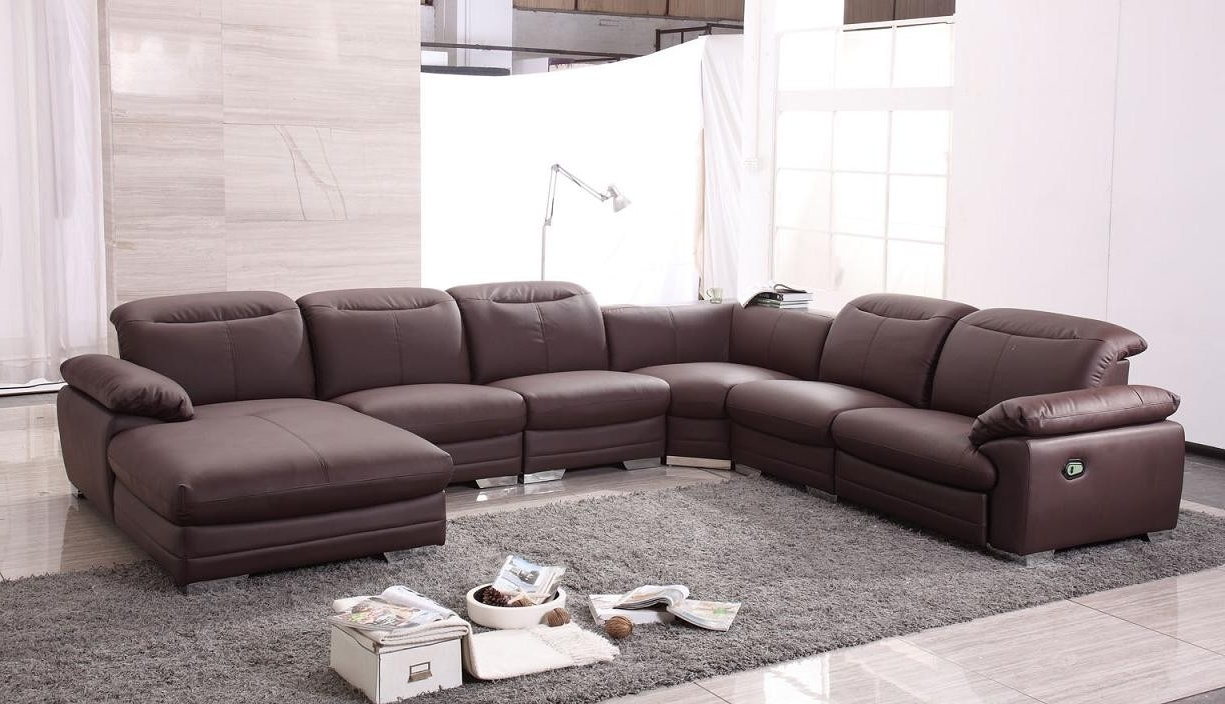 Popular Leather Recliner Sectional Sofas Intended For Perfect Recliner Sectional Sofa 99 Sofas And Couches Set With (View 13 of 20)
