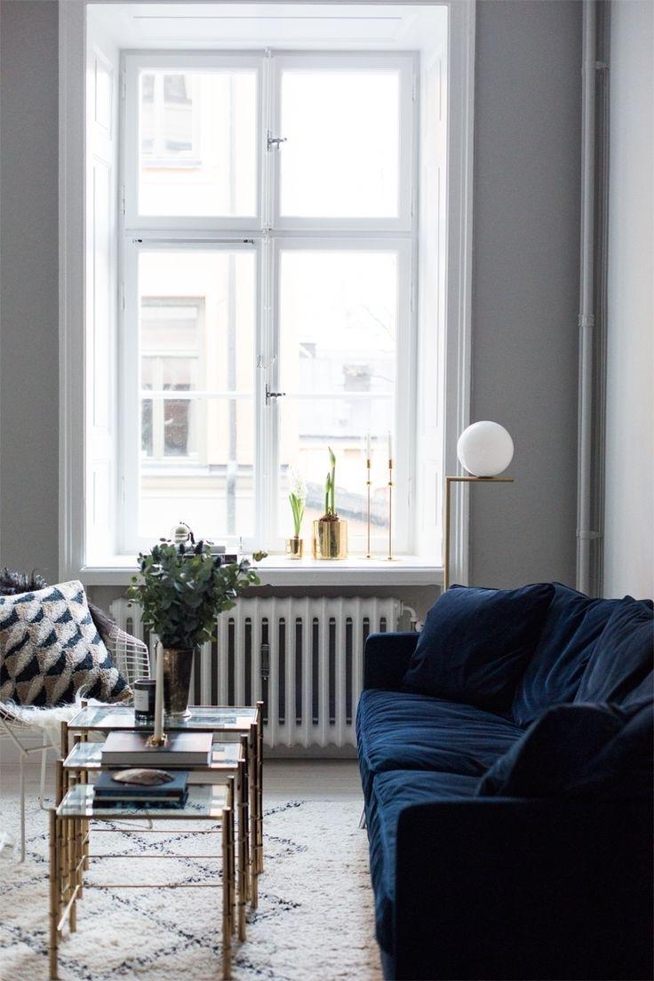 Popular Living Room : Navy Blue Velvet Sofa Living Room Set For Antique For Blue Sofa Chairs (View 20 of 20)