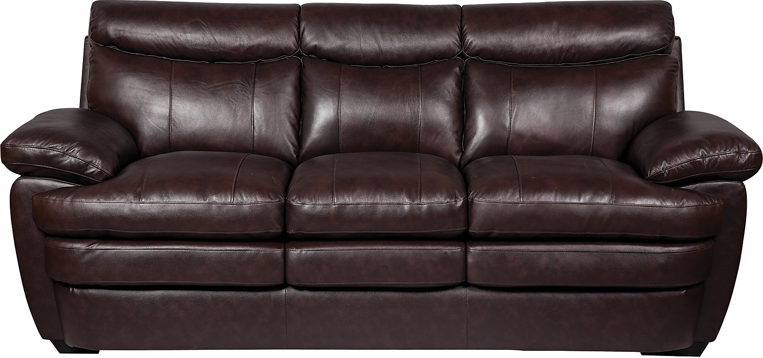 Popular Marty Genuine Leather Sofa – Brown (View 11 of 20)