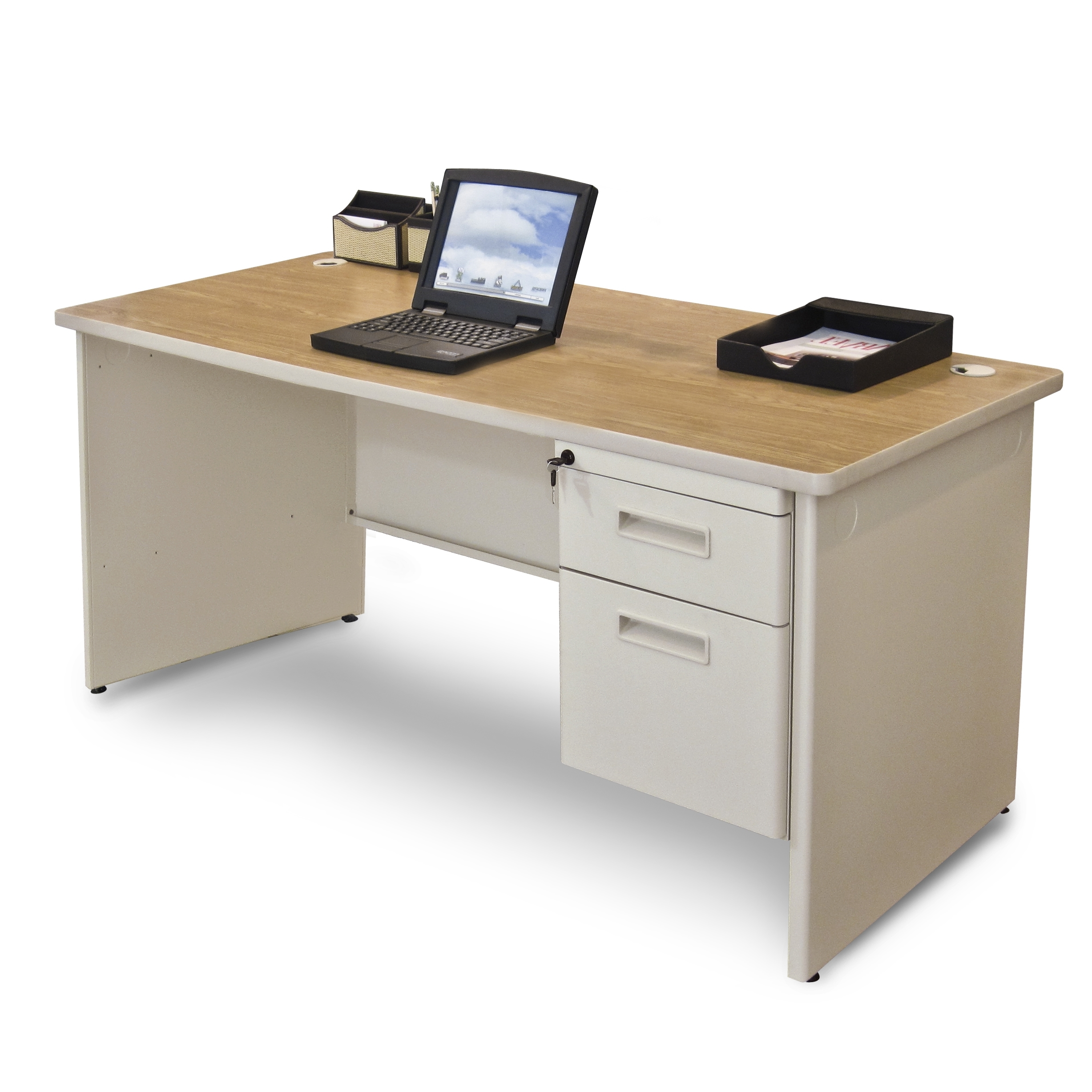 Popular Marvel Pdr6030Sp – Pronto Marvel 60 In Single Pedestal Computer Desk For Quill Computer Desks (View 10 of 20)