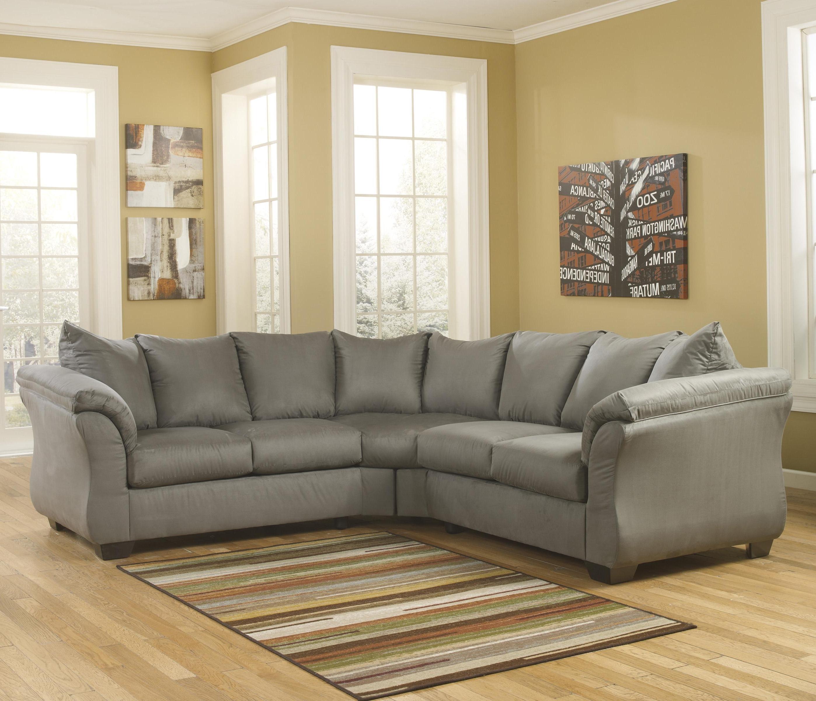 Popular Michigan Sectional Sofas Within Darcy – Cobblestone Sectional Sofasignature Designashley (View 15 of 20)