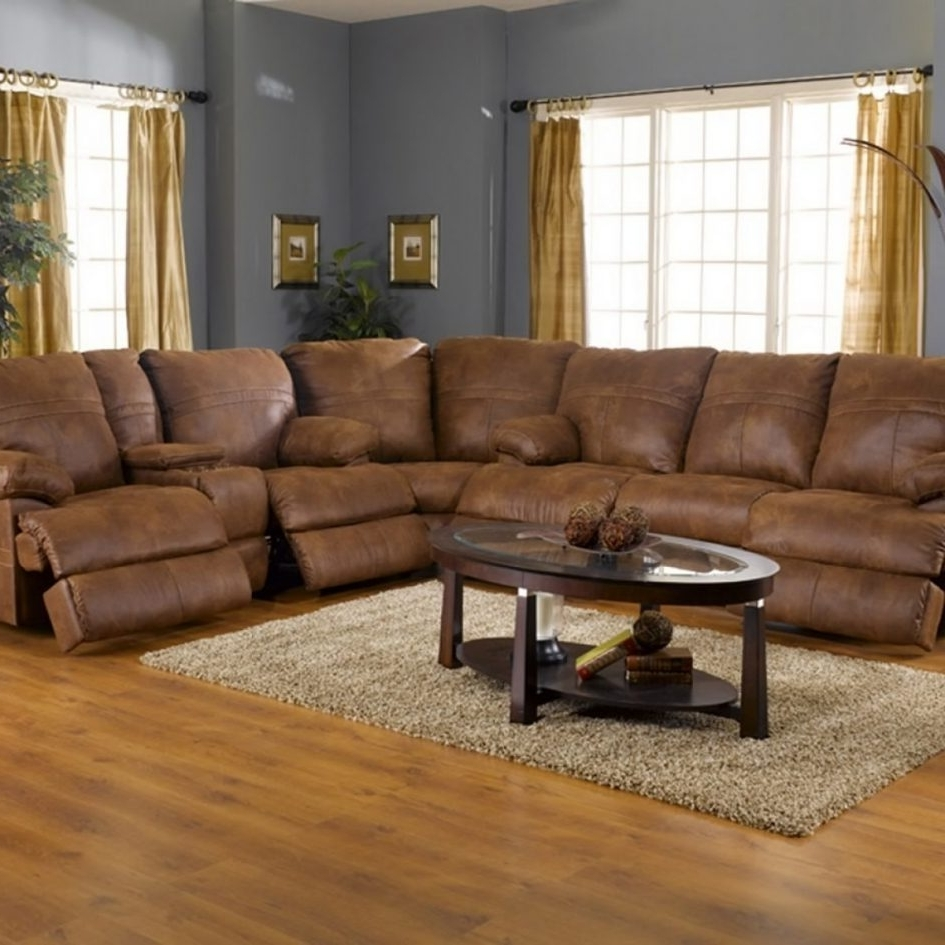 Popular Microfiber Sectional Sofas With Sofa Recliners Ottoman Small Regarding Sectional Sofas With Recliners (View 11 of 20)