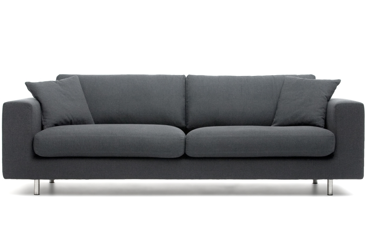 Popular Modern 3 Seater Sofas Intended For Wide Arm 2 Seat Sofa – Hivemodern (View 4 of 20)