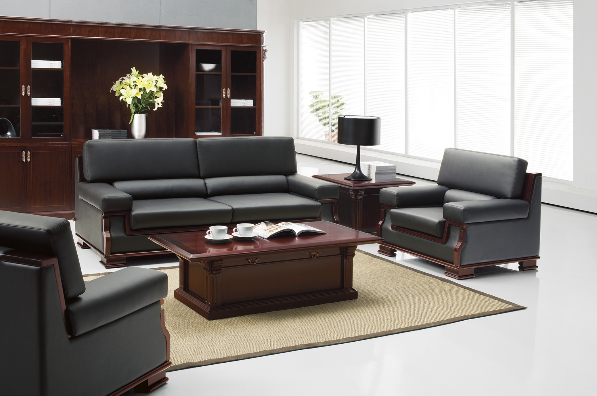 Por Office Sofas And Chairs In Modern Executive Sofa View 17 Of 20