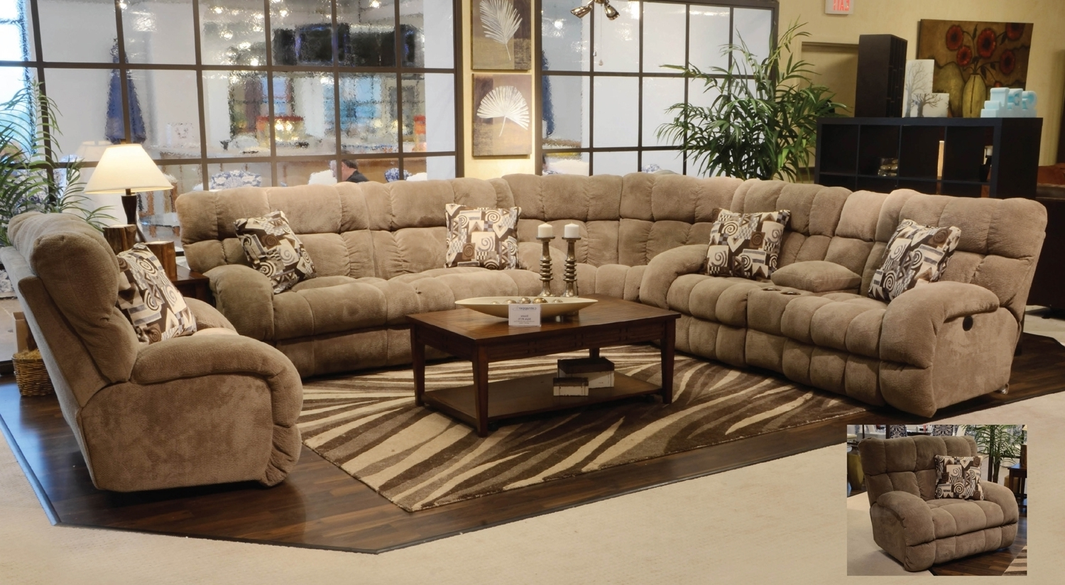 Popular Scarborough Sectional Sofas With Arrange A Living Room With Large Sectional Sofas — The Home Redesign (View 13 of 20)