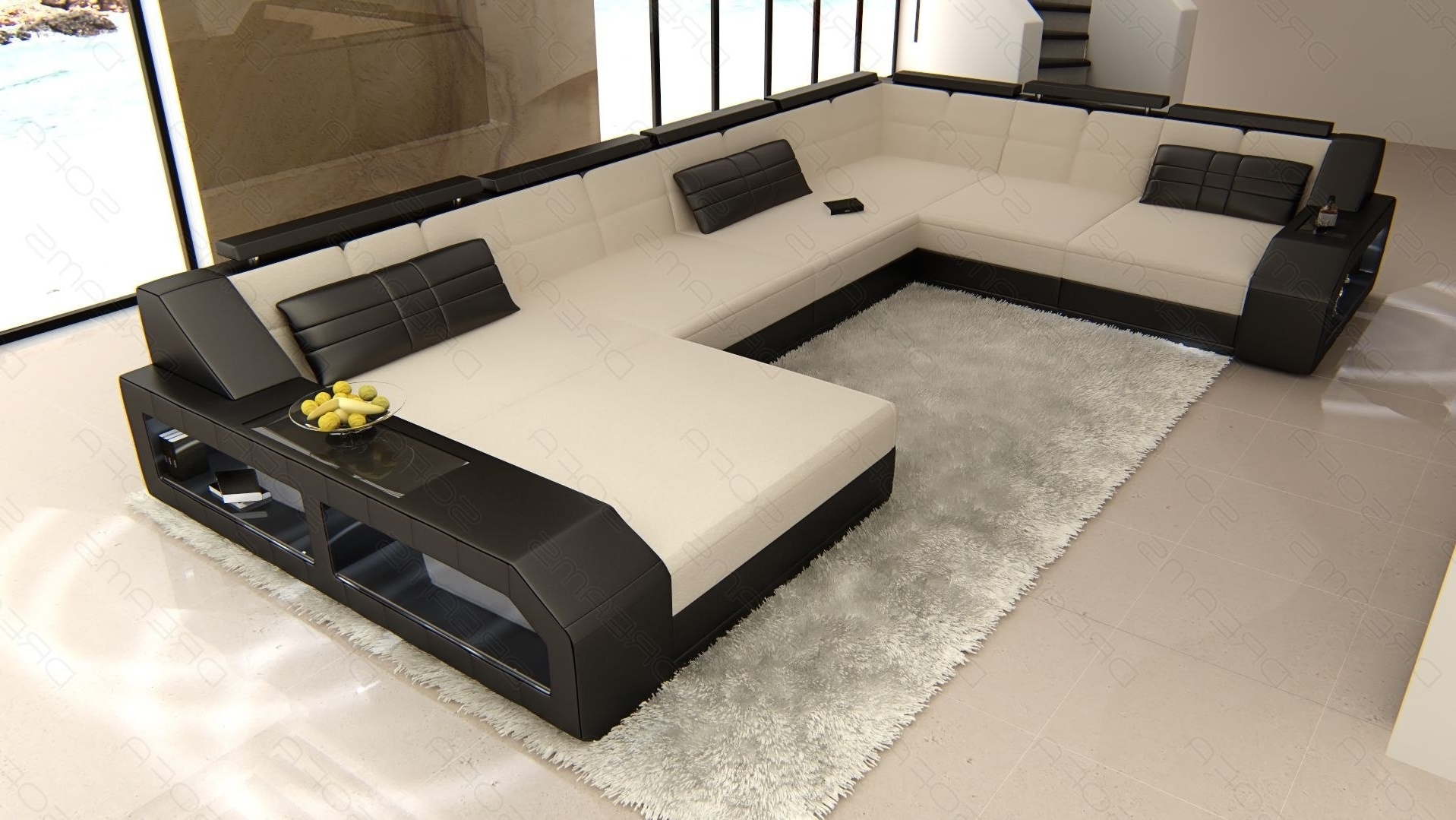 Popular Sectional Fabric Sofa Houston Xl Regarding Houston Sectional Sofas (View 10 of 20)