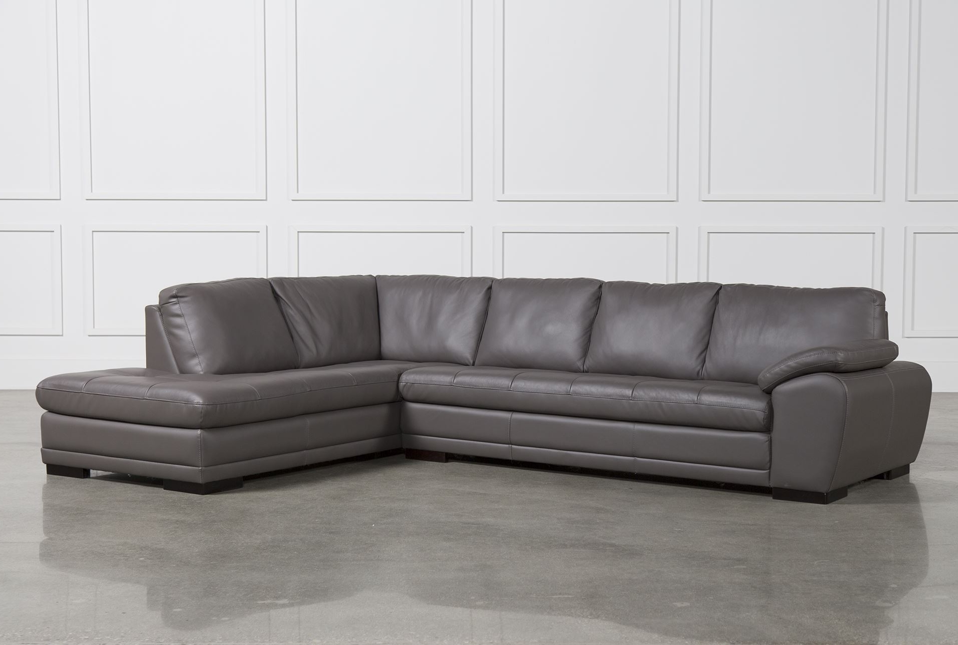 Popular Sectional Sofa Design: Unique Sectional Leather Sofas Gray Leather With Leather L Shaped Sectional Sofas (View 20 of 20)