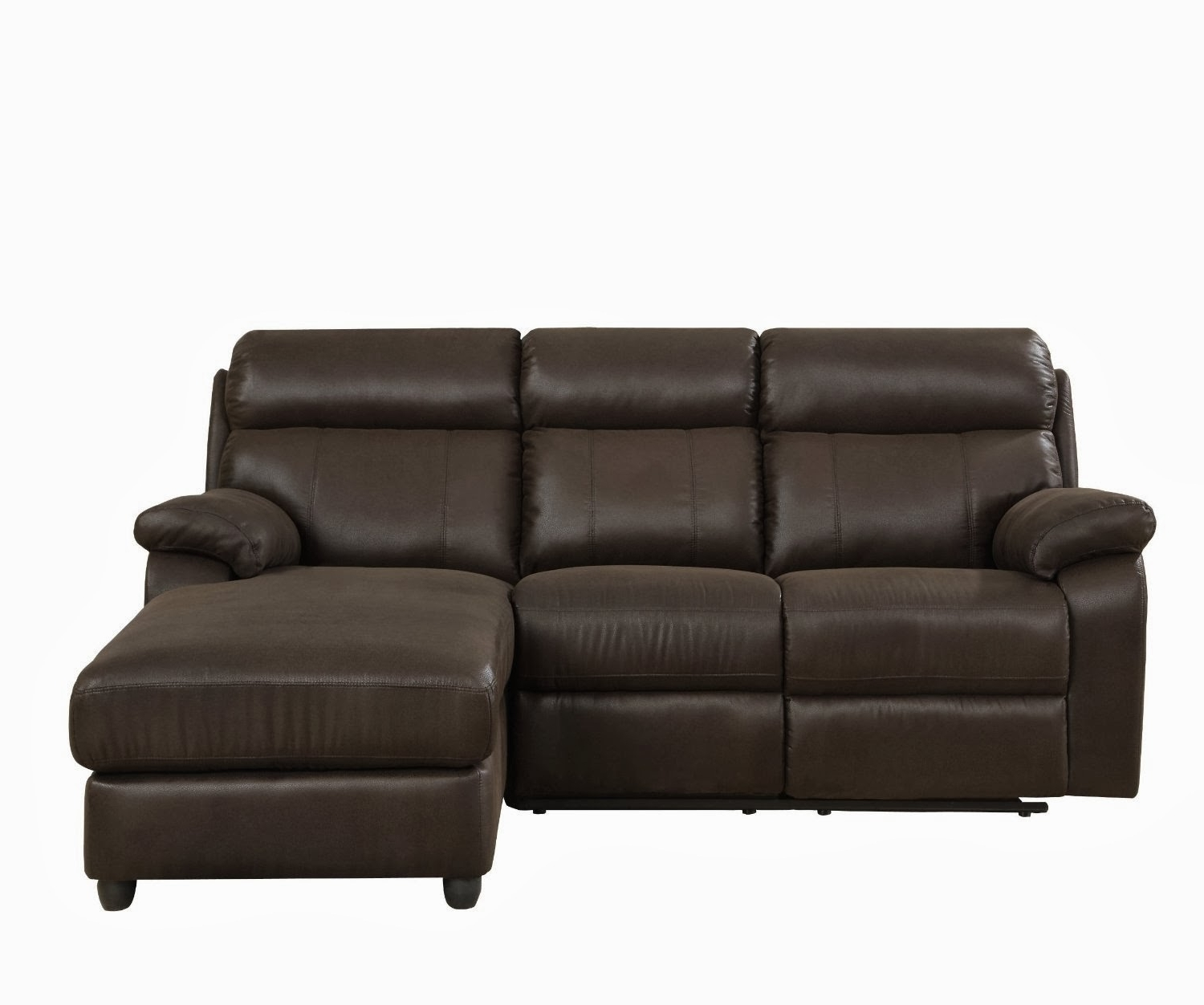Popular Sectional Sofas With High Backs Within Small High Back Leather Sectional Sofa With Chaise For 3 – Decofurnish (View 15 of 20)