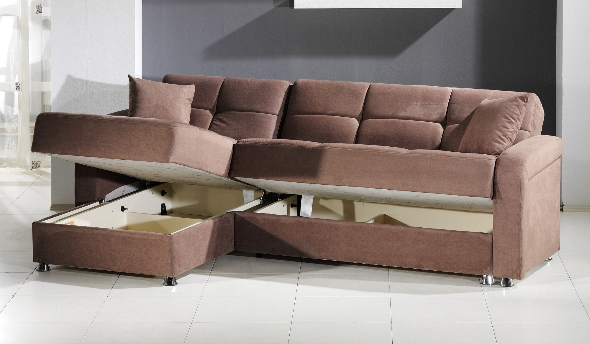 Popular Sectional Sofas With Storage In Leather Armchair And Ottoman Chaise Sofa With Storage Ottoman (View 9 of 20)