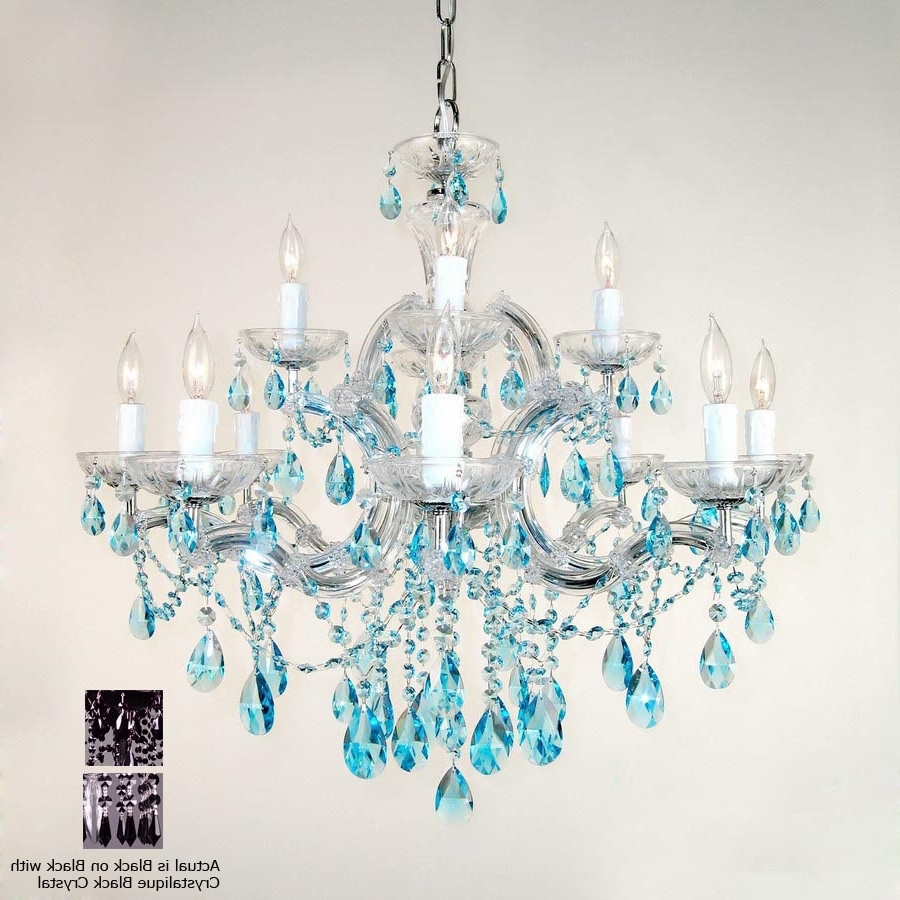 Featured Photo of Turquoise Crystal Chandelier Lights