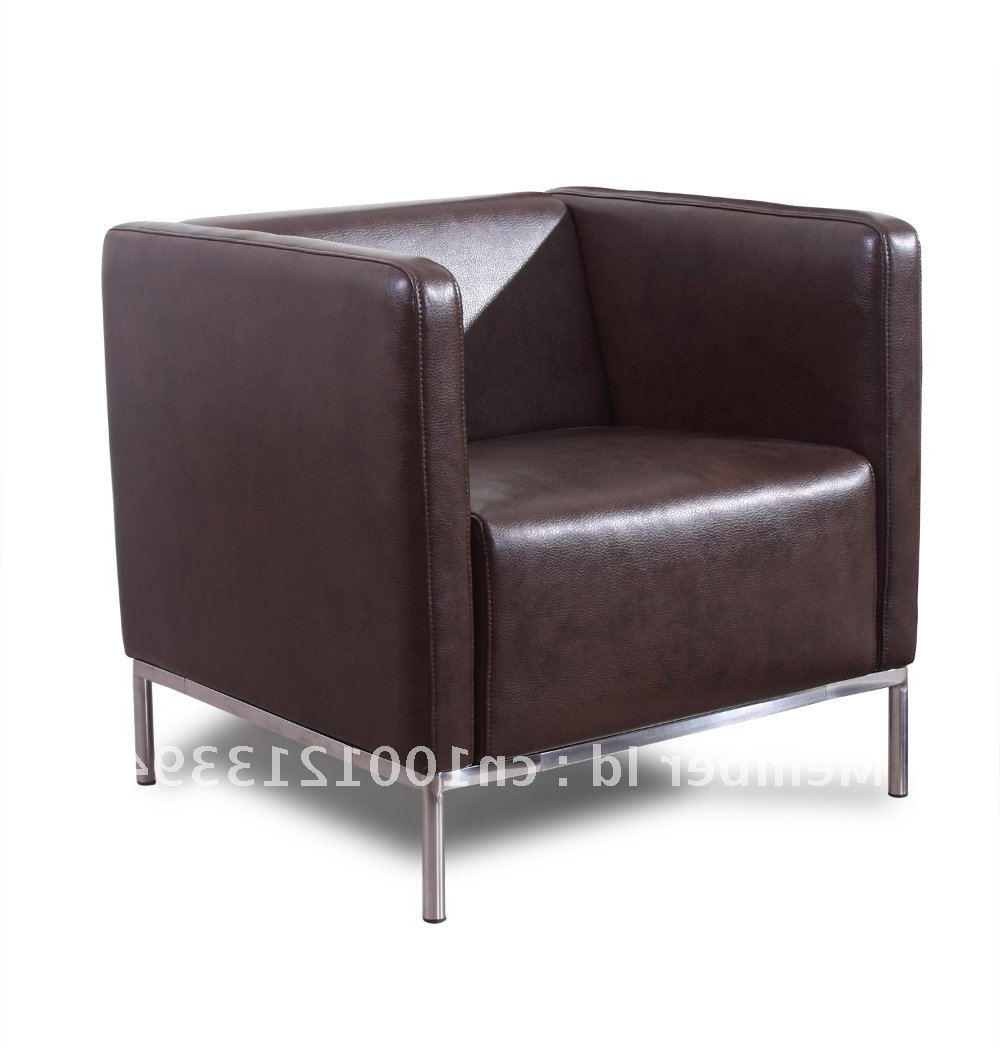 Popular Single Sofas Intended For Modern Furniture / Living Room Fabric/ Bond Leather Sofa/ Sofa (View 12 of 20)