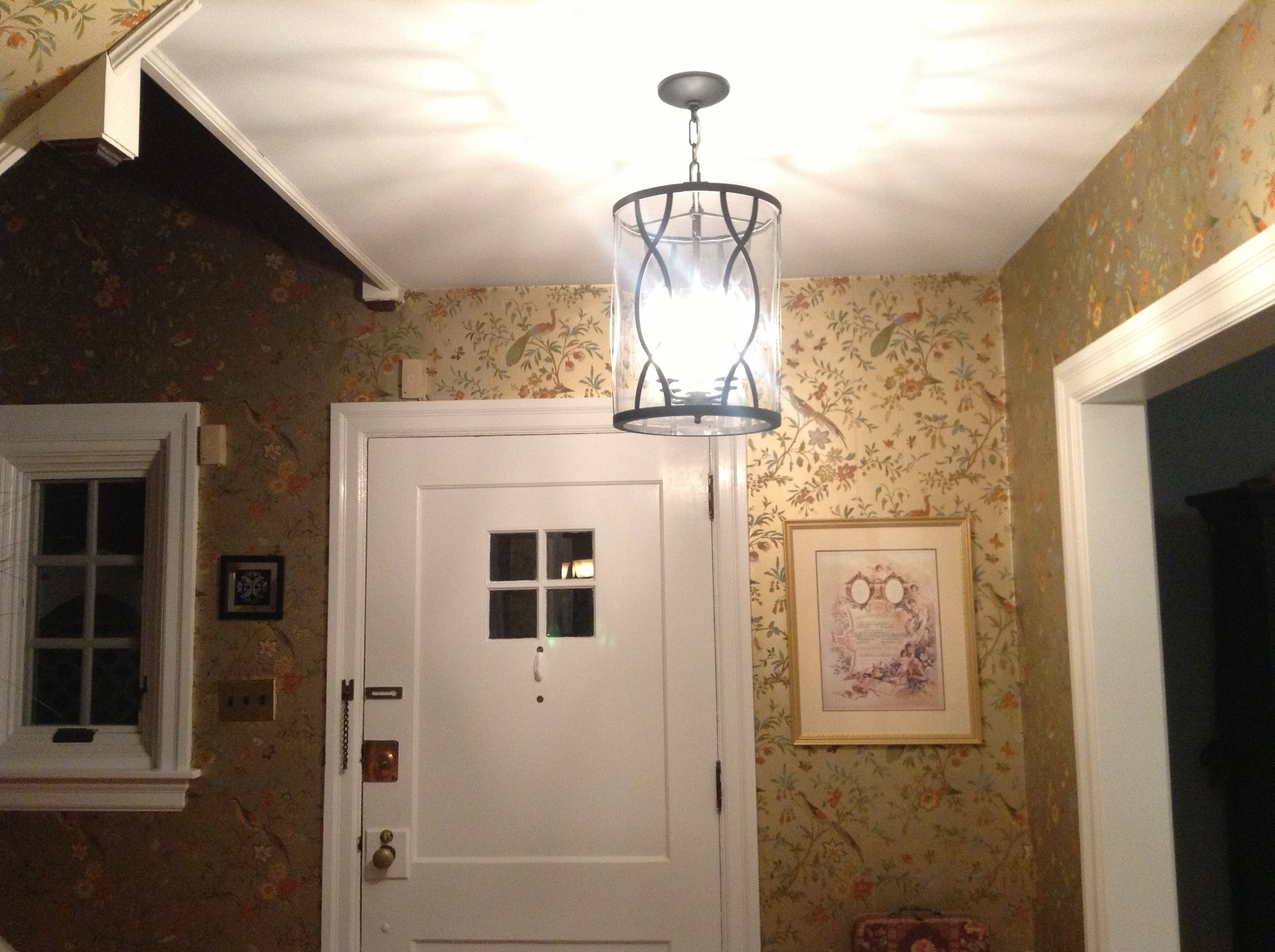 Popular Small Chandeliers For Low Ceilings Inside Exquisite Tube Ceiling Hanging Lights With Shade As Modern Foyer (View 8 of 20)
