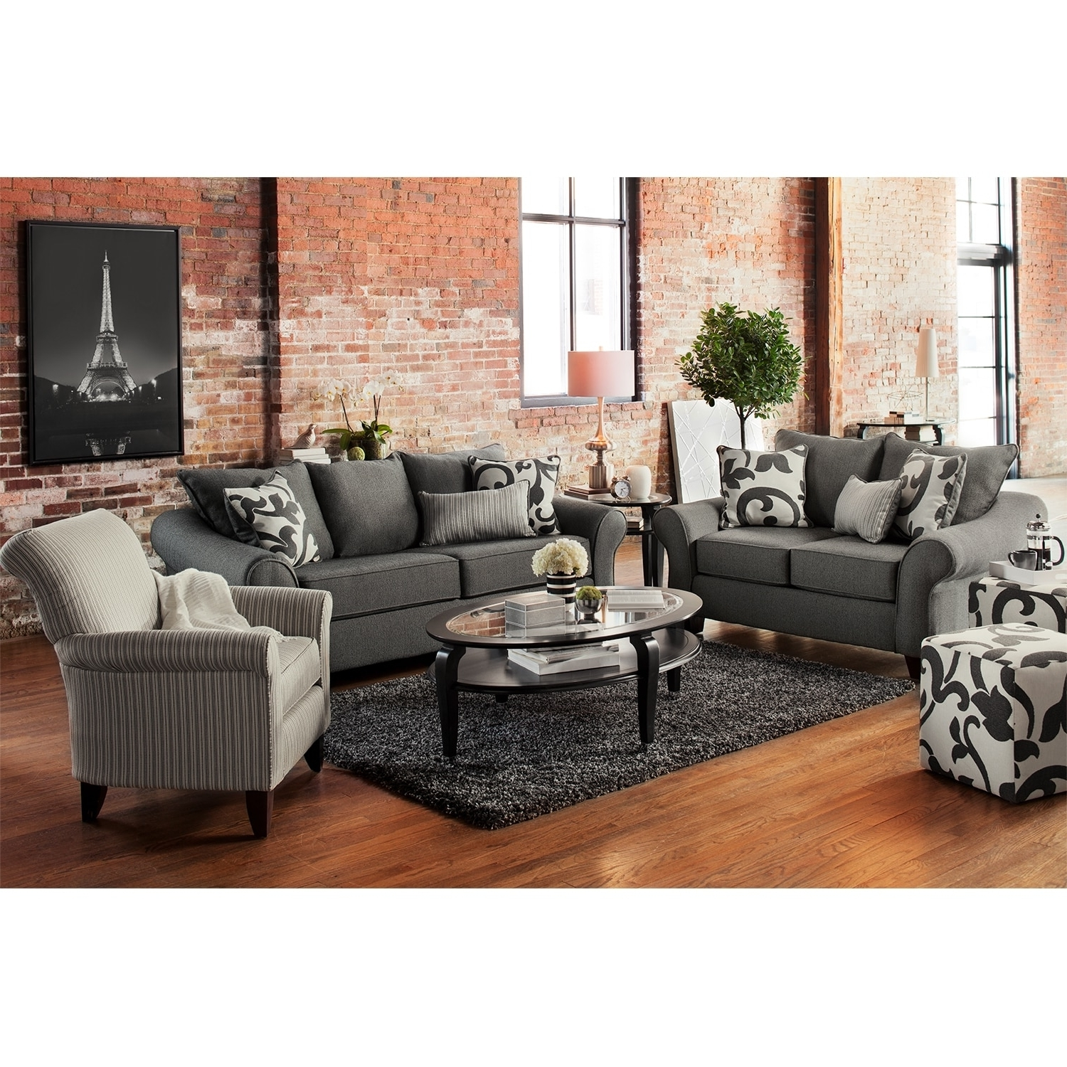Popular Sofa And Accent Chair Sets With Leather Sofa Loveseat Chair And Ottoman Modern Set Accent (View 13 of 20)