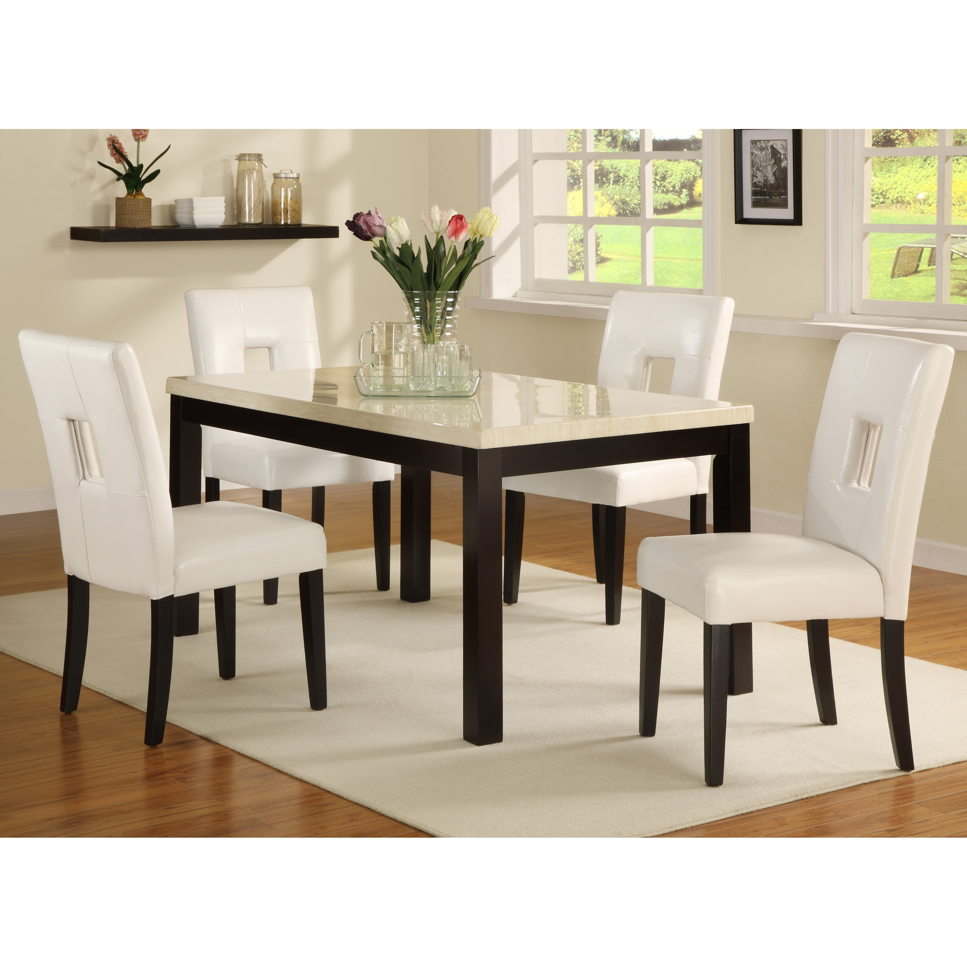 Popular Sofa Chairs With Dining Table Inside Furniture Of America Mullican 7 Piece Display Top Dining Table Set (View 9 of 20)