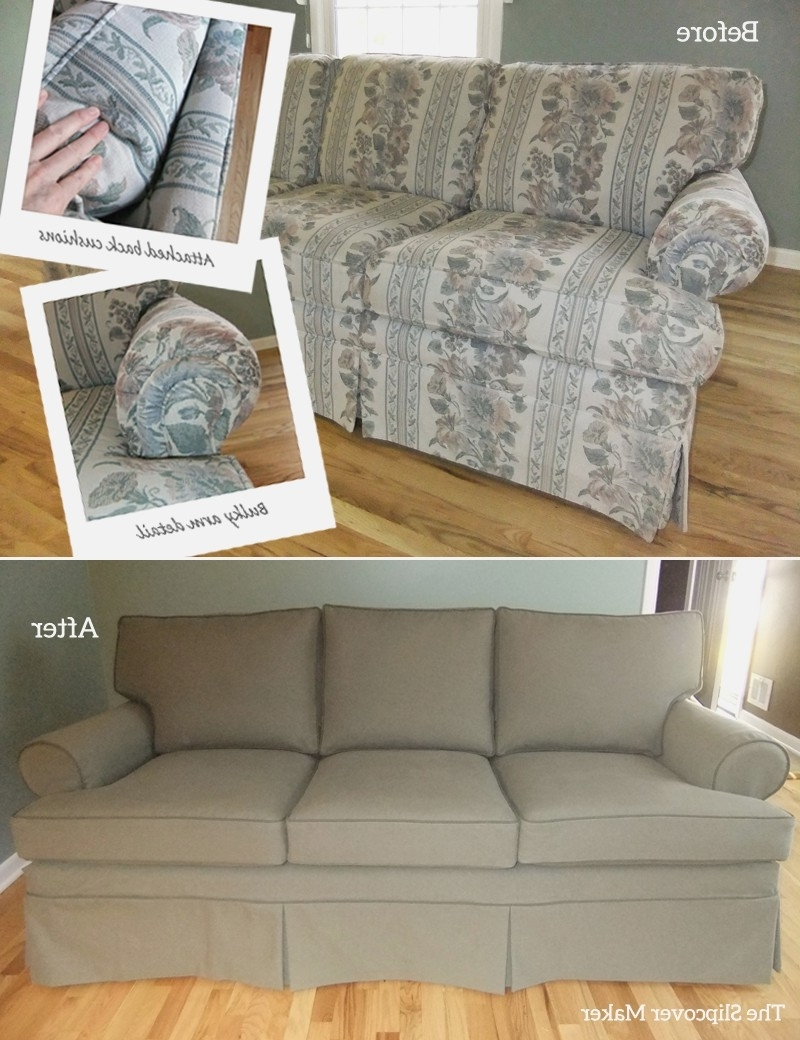 Popular Sofa Slipcover : Linen Slipcover Sofa Living Room Chair Covers Throughout Removable Covers Sectional Sofas (View 10 of 20)