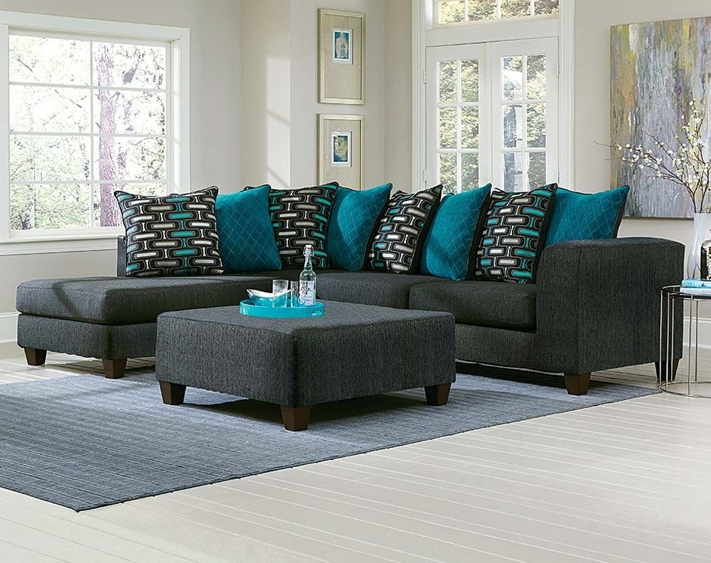 Popular Sofas With Oversized Pillows Inside The Watson Big Two Piece Sectional Sofa Is Outfitted In A Two (View 9 of 20)