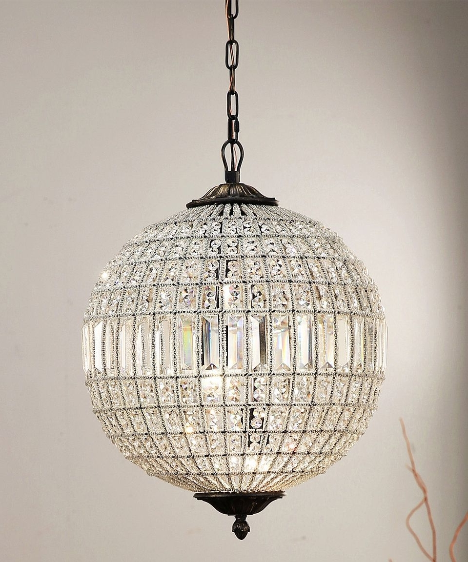 Popular Sphere Chandelier Throughout Chandeliers : Crystal Sphere Chandelier Wire Sample Images Concept (View 12 of 20)