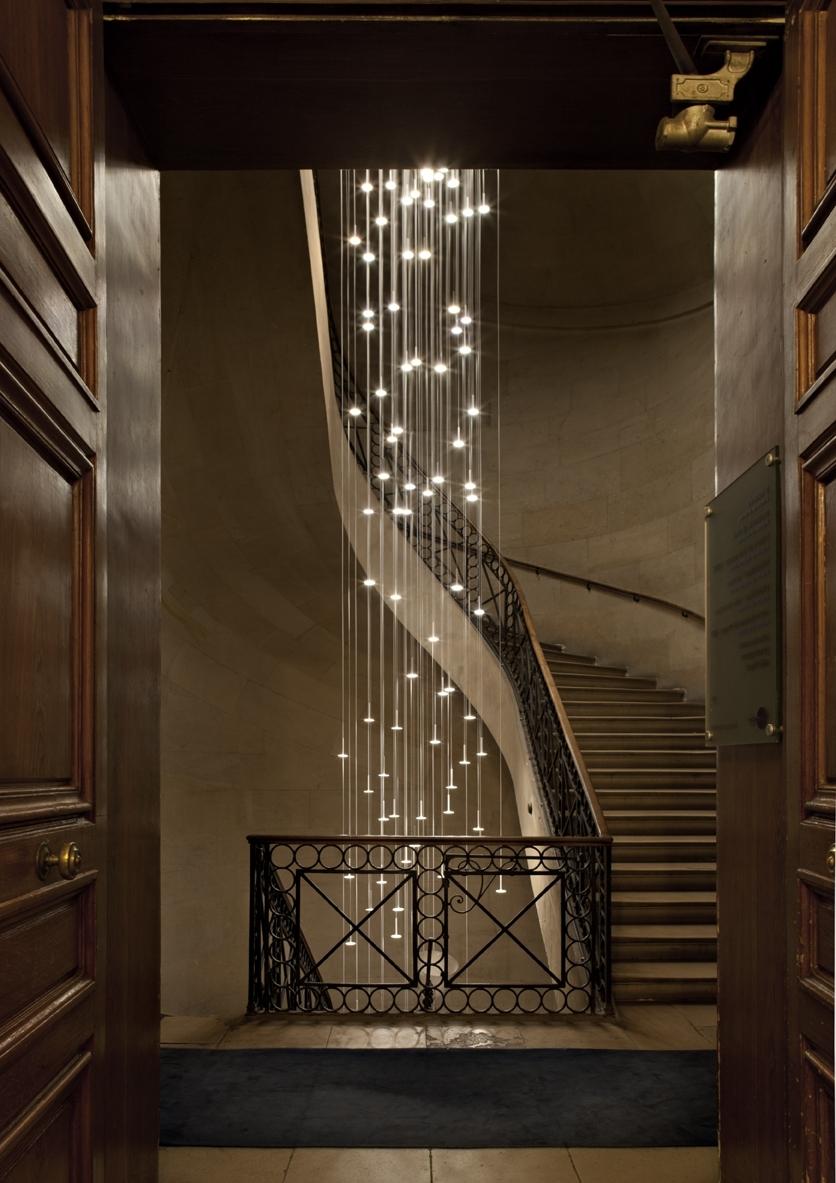 Popular Staircase Chandeliers Regarding Spiral Staircase Foyer Chandelier – Closdurocnoir (View 13 of 20)