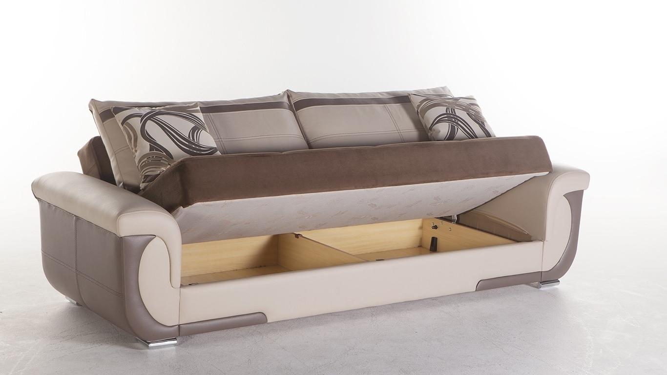 Popular Stylish Sofa Sleeper With Storage Latest Living Room Remodel Ideas Regarding Storage Sofas (View 9 of 20)
