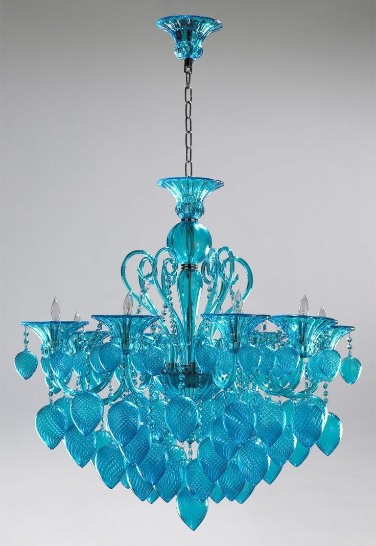 Popular Turquoise Crystal Chandelier Lights Regarding 82 Best Blue Chandeliers Images On Pinterest (View 2 of 20)