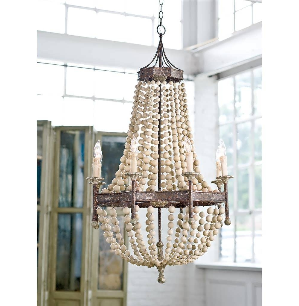 Popular Turquoise Wood Bead Chandeliers Inside Chandelier : Wood Look Chandelier Wood Bead Ceiling Light Turquoise (View 15 of 20)